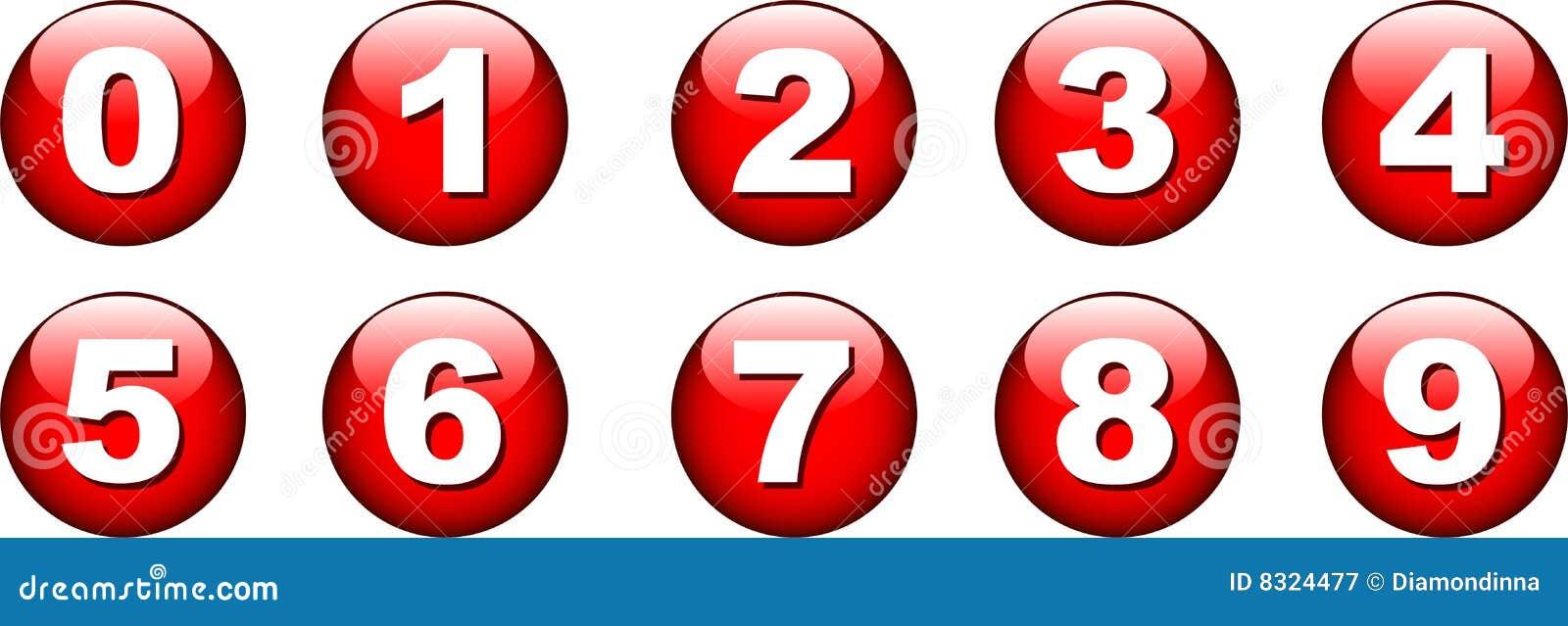 Icono del número del botón