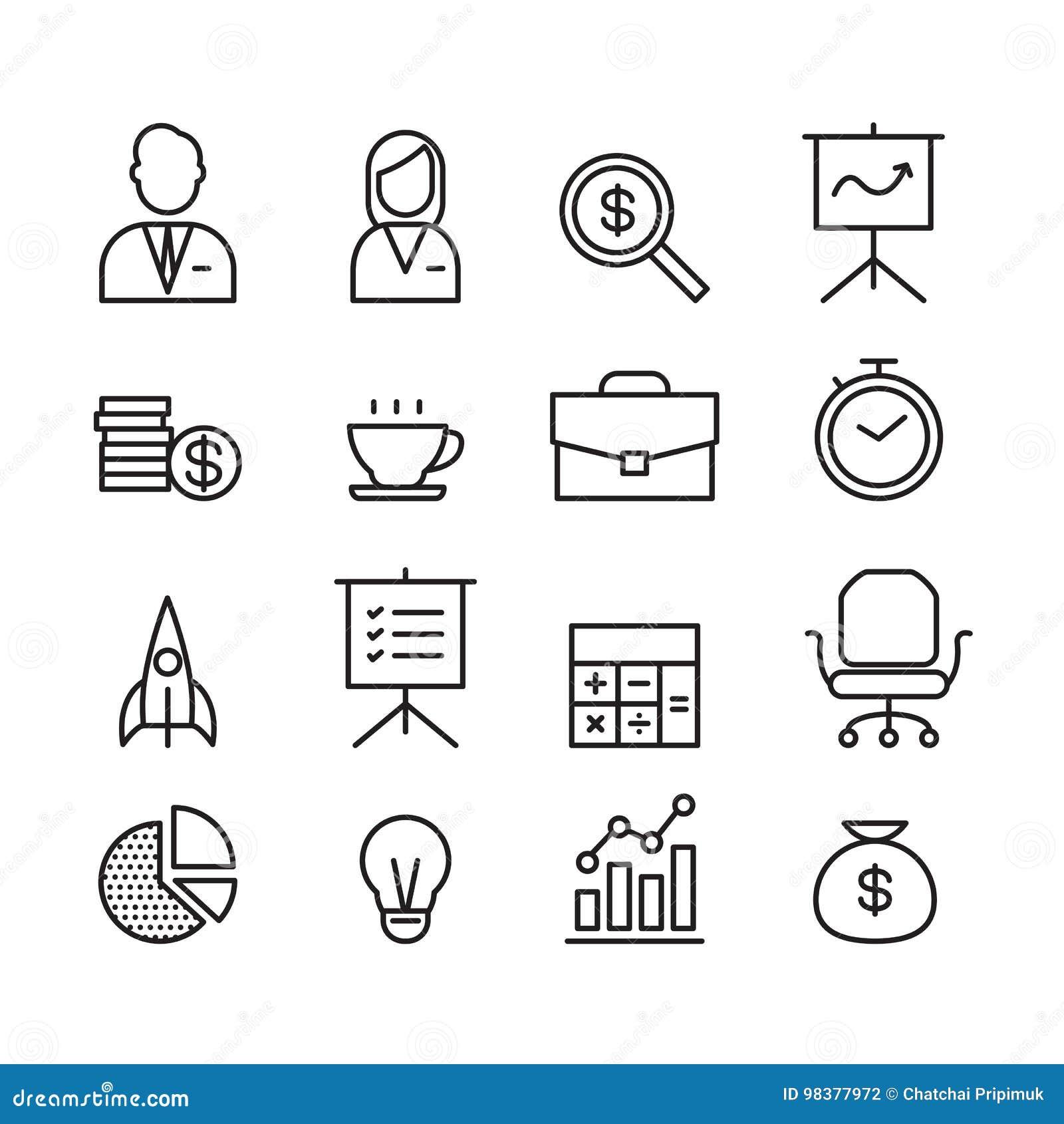 Icono del negocio, vector