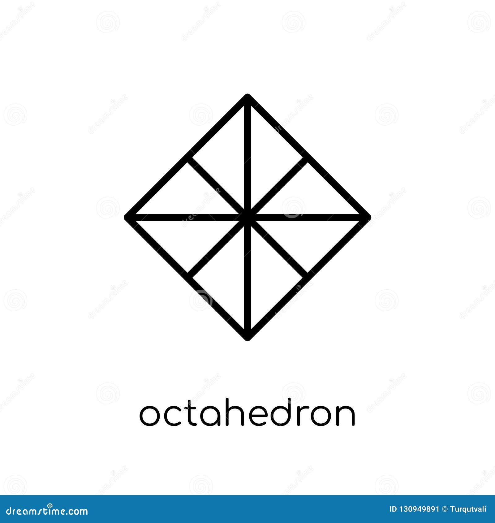 Icono del octaedro de la colección de la geometría