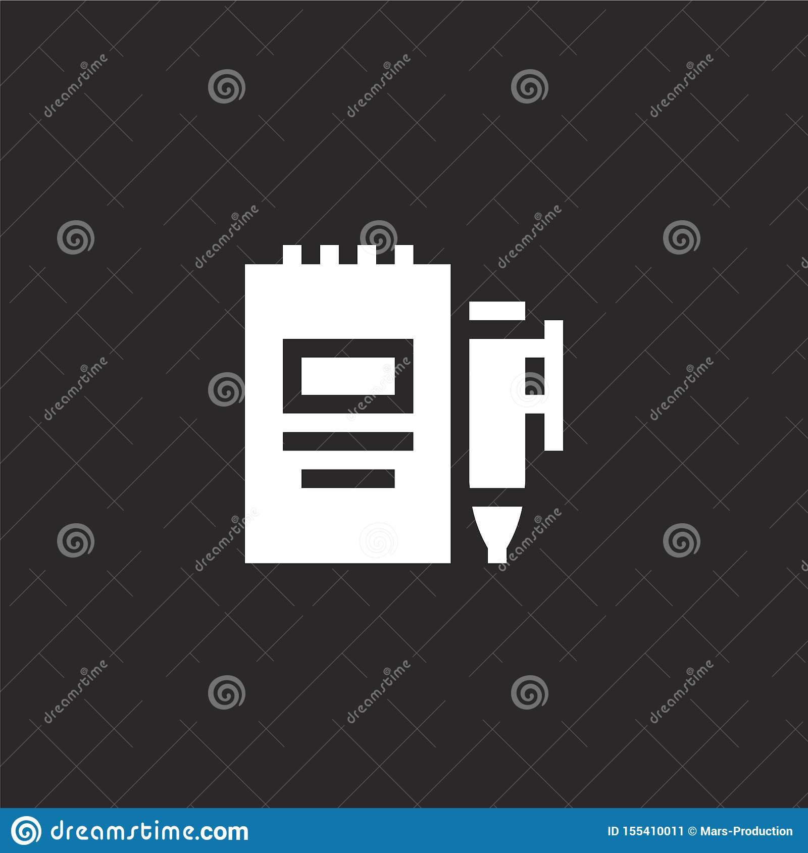 Icono del orden del d?a Icono llenado del orden del día para el diseño y el móvil, desarrollo de la página web del app icono del