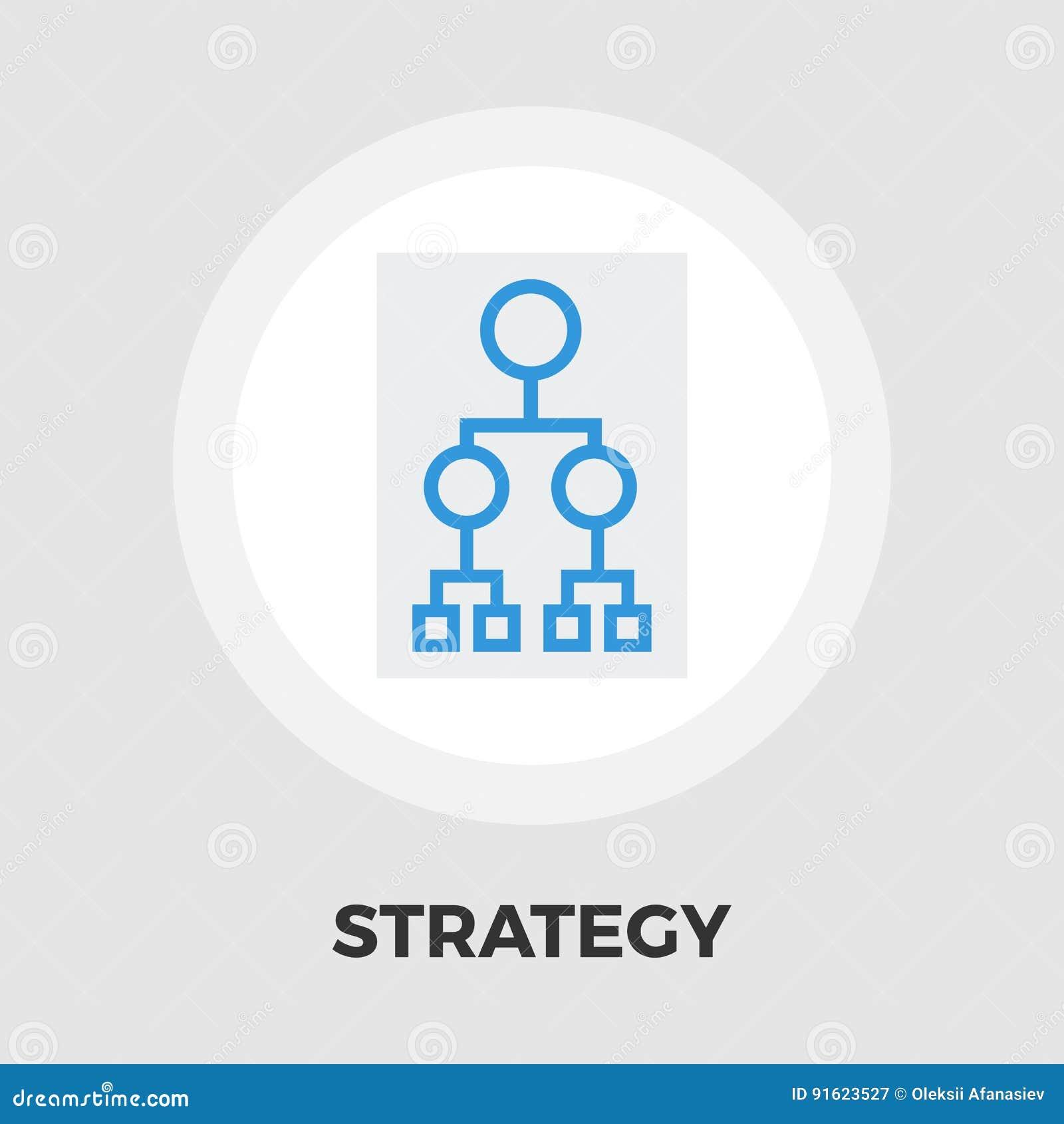 Icono del organigrama plano