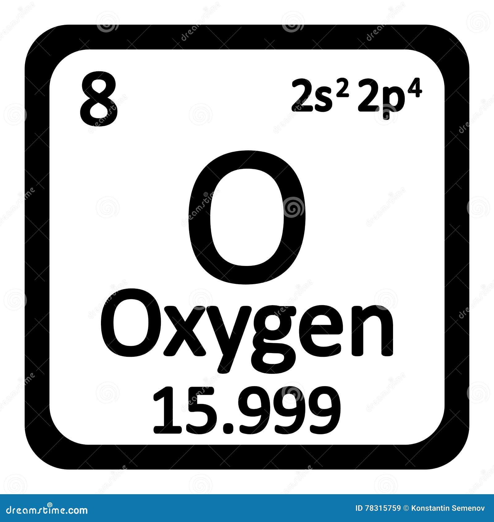 Icono Del Ox 237 Geno Del Elemento De Tabla Peri 243 Dica Stock De