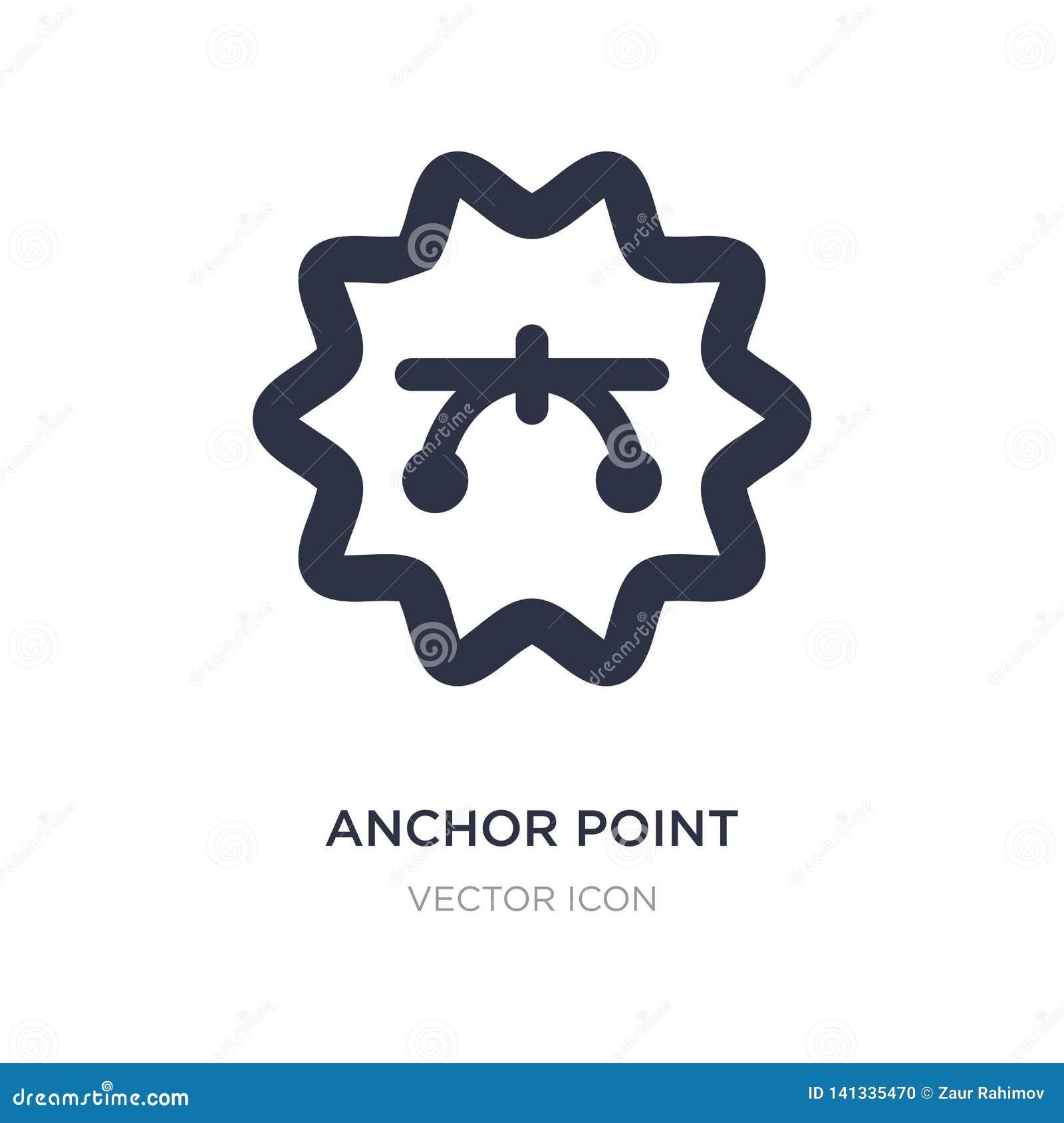 Icono del punto de anclaje en el fondo blanco Ejemplo simple del elemento del concepto de UI
