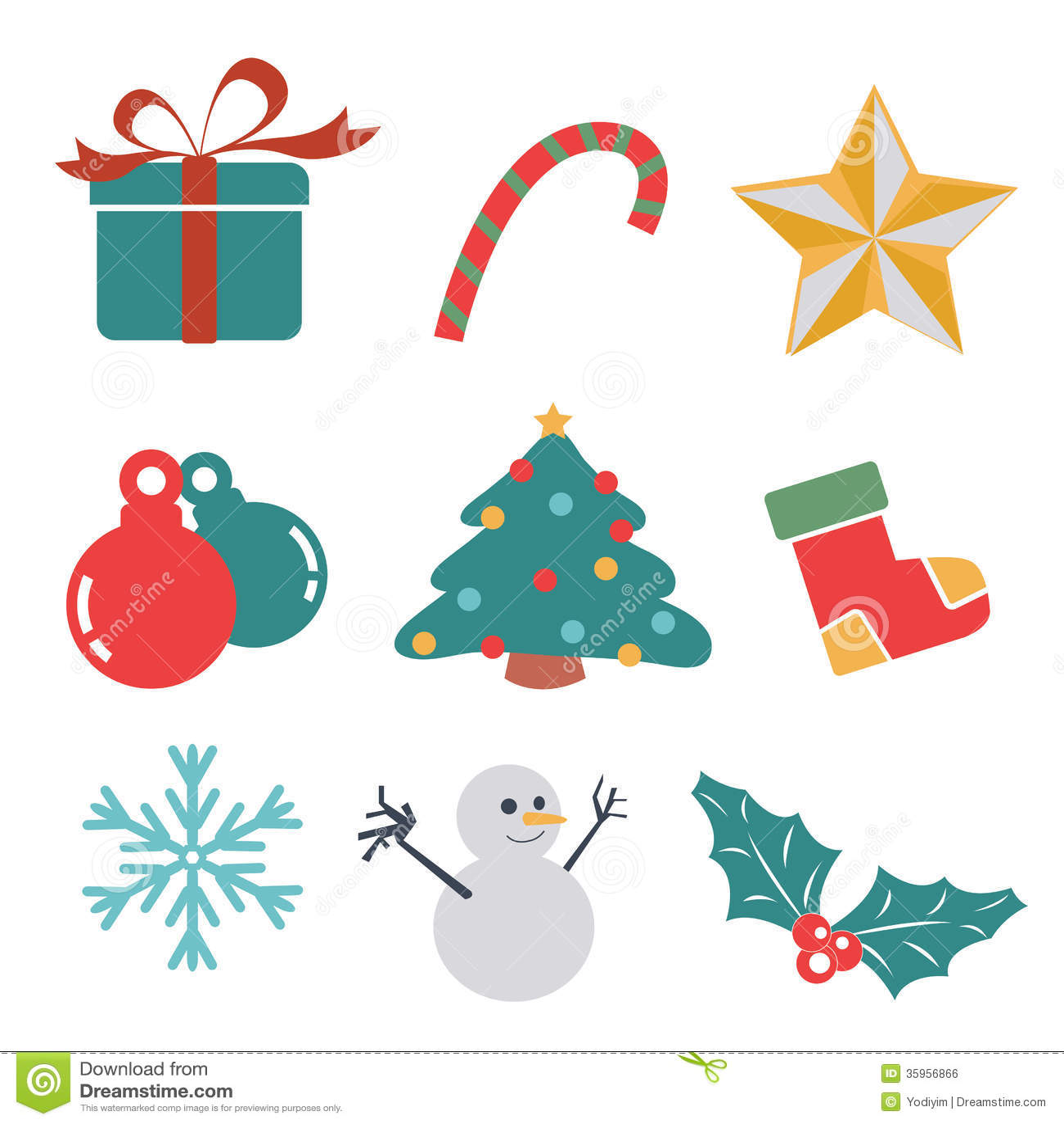 Icono del regalo de la Navidad