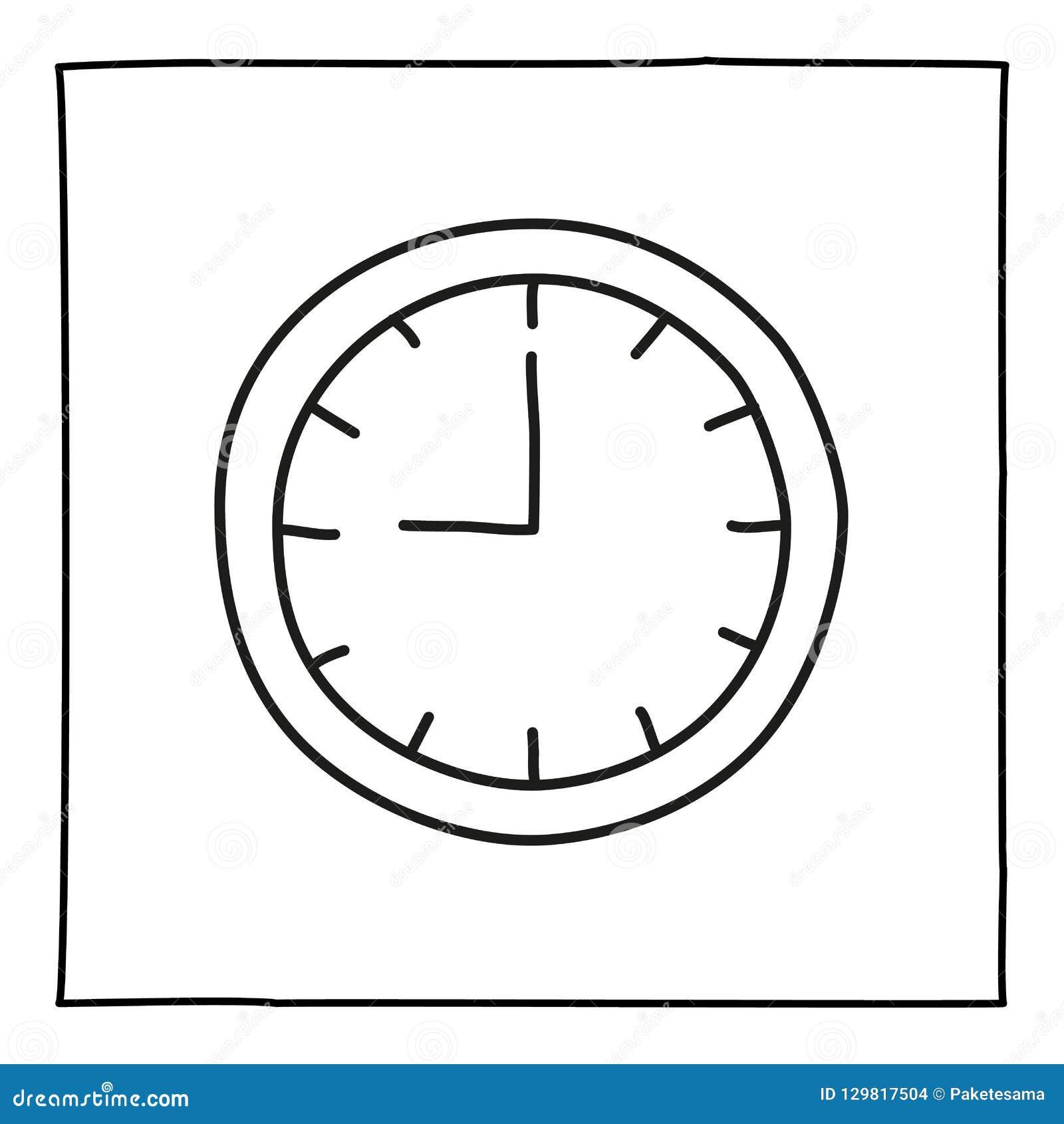 2f8c9496fbe5 Icono Del Reloj De Reloj De Pared Del Garabato Stock de ilustración ...