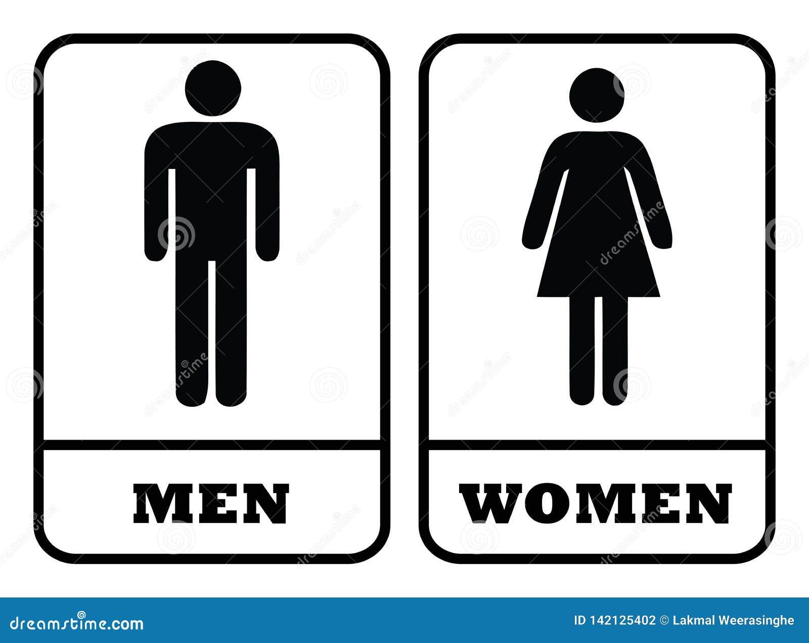 Icono del servicio de los hombres y muestra del servicio de las mujeres