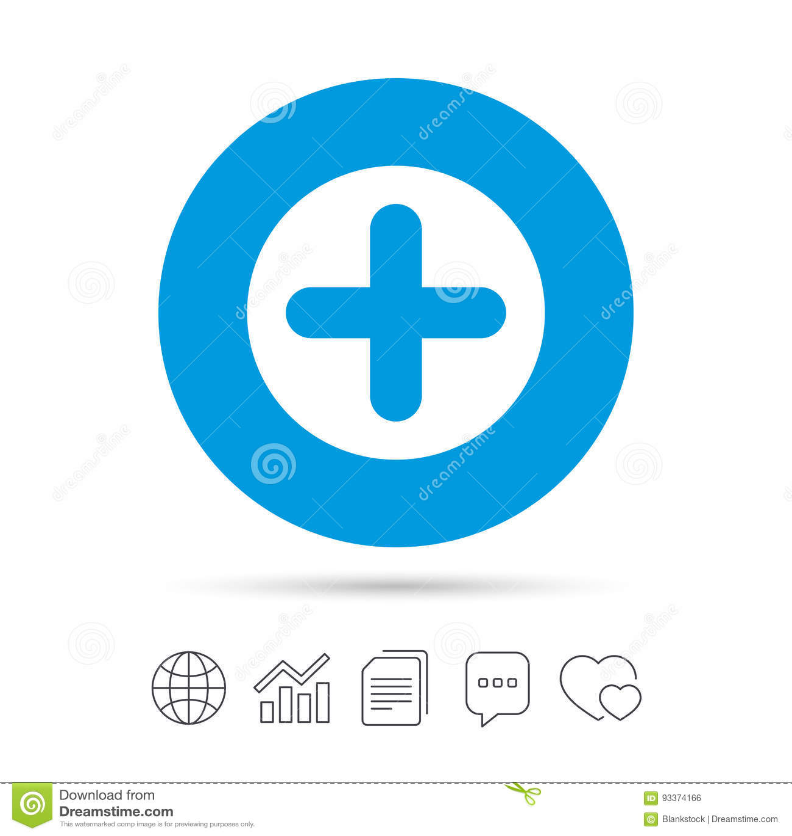 Icono Del Signo Más Símbolo Positivo Ilustración del Vector ...