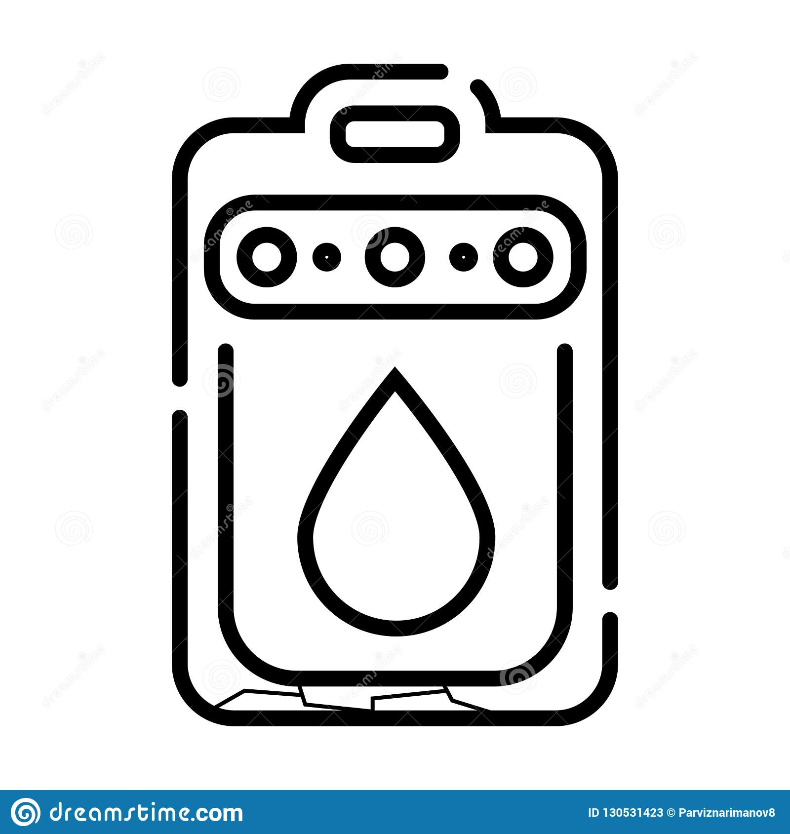 Icono del sistema del alcantarillado