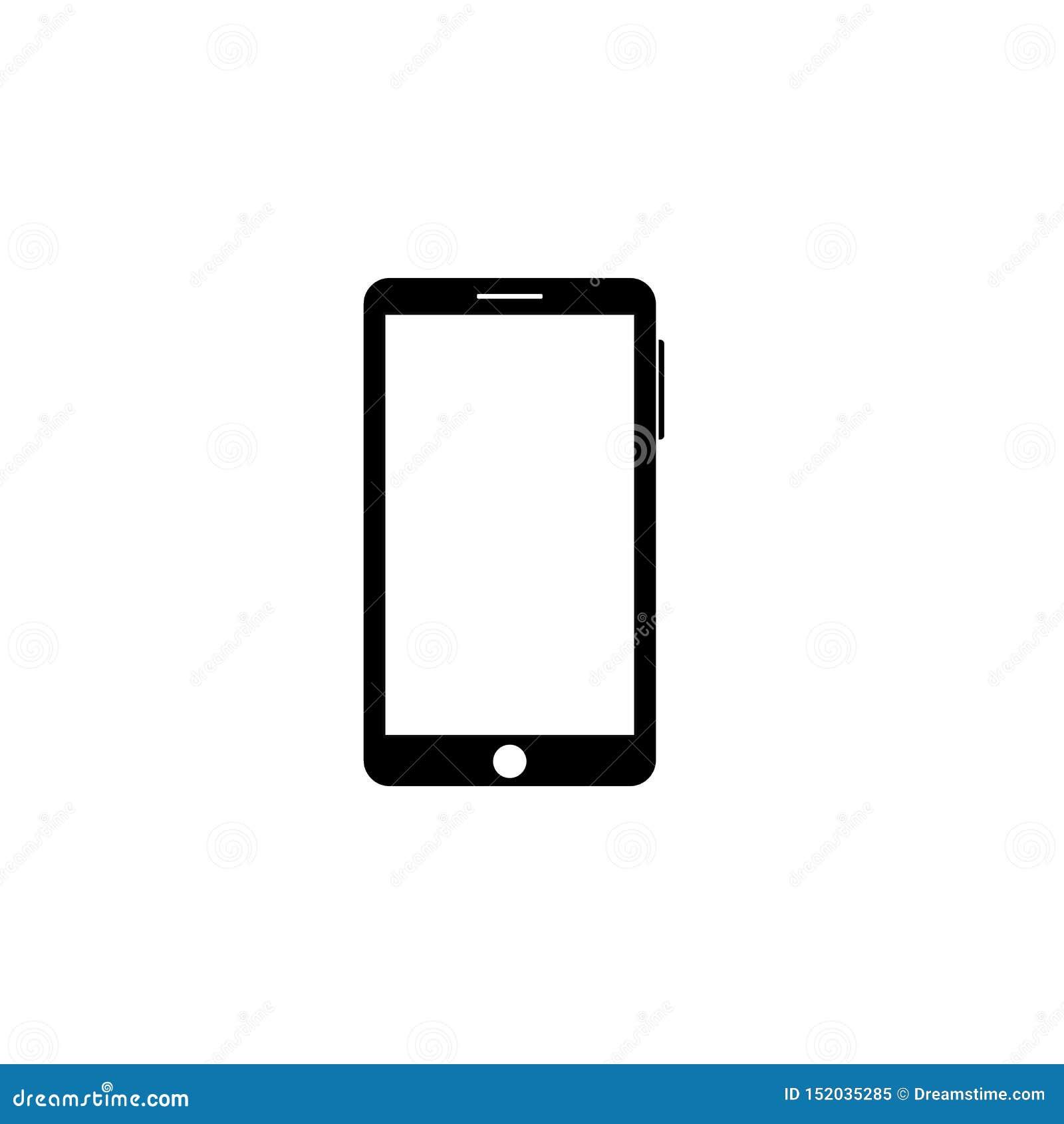 Icono del smartphone del esquema Vector