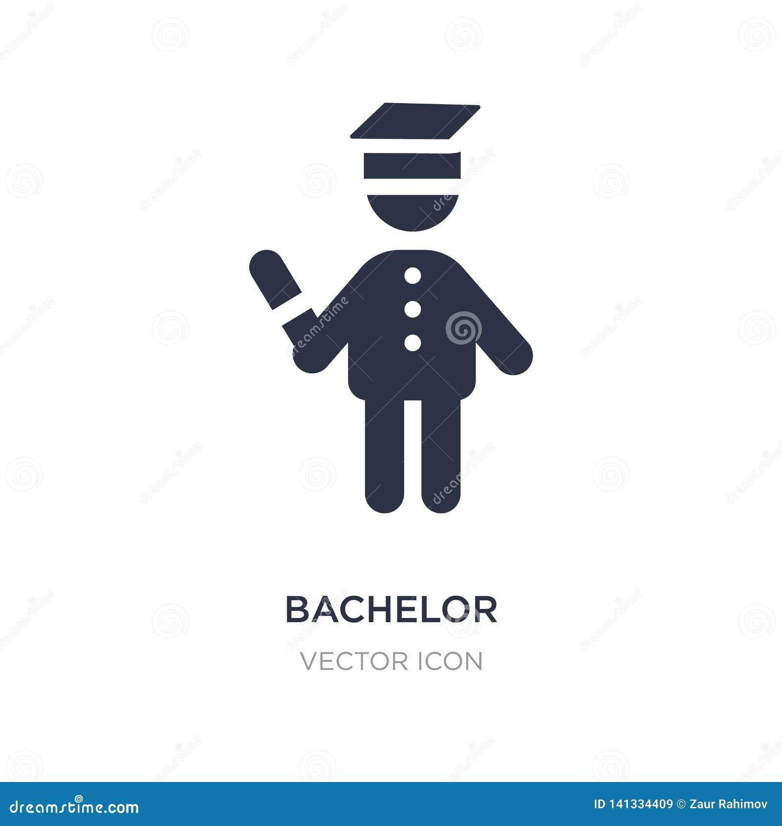 Icono del soltero en el fondo blanco Ejemplo simple del elemento del concepto de la gente