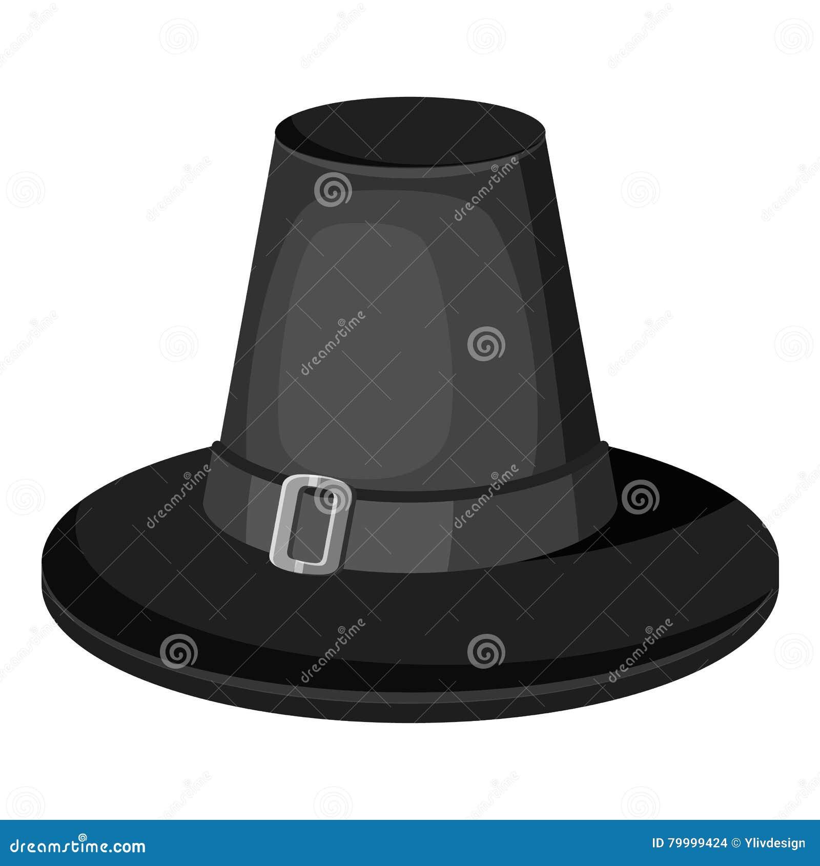 5aadf421df003 Icono del sombrero del peregrino Ejemplo monocromático gris del icono del  vector del peregrino para el web