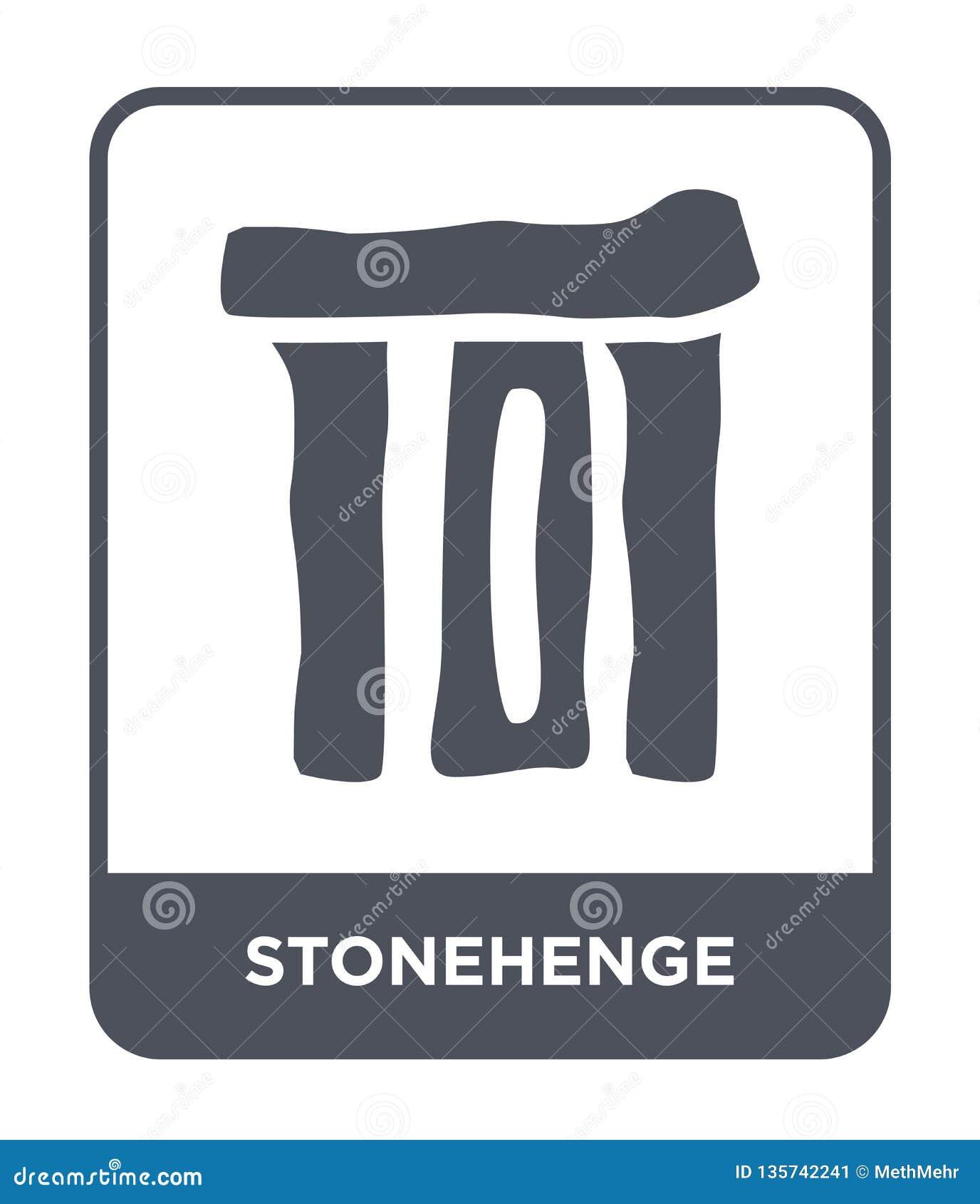 Icono del stonehenge en estilo de moda del diseño Icono de Stonehenge aislado en el fondo blanco icono del vector del stonehenge
