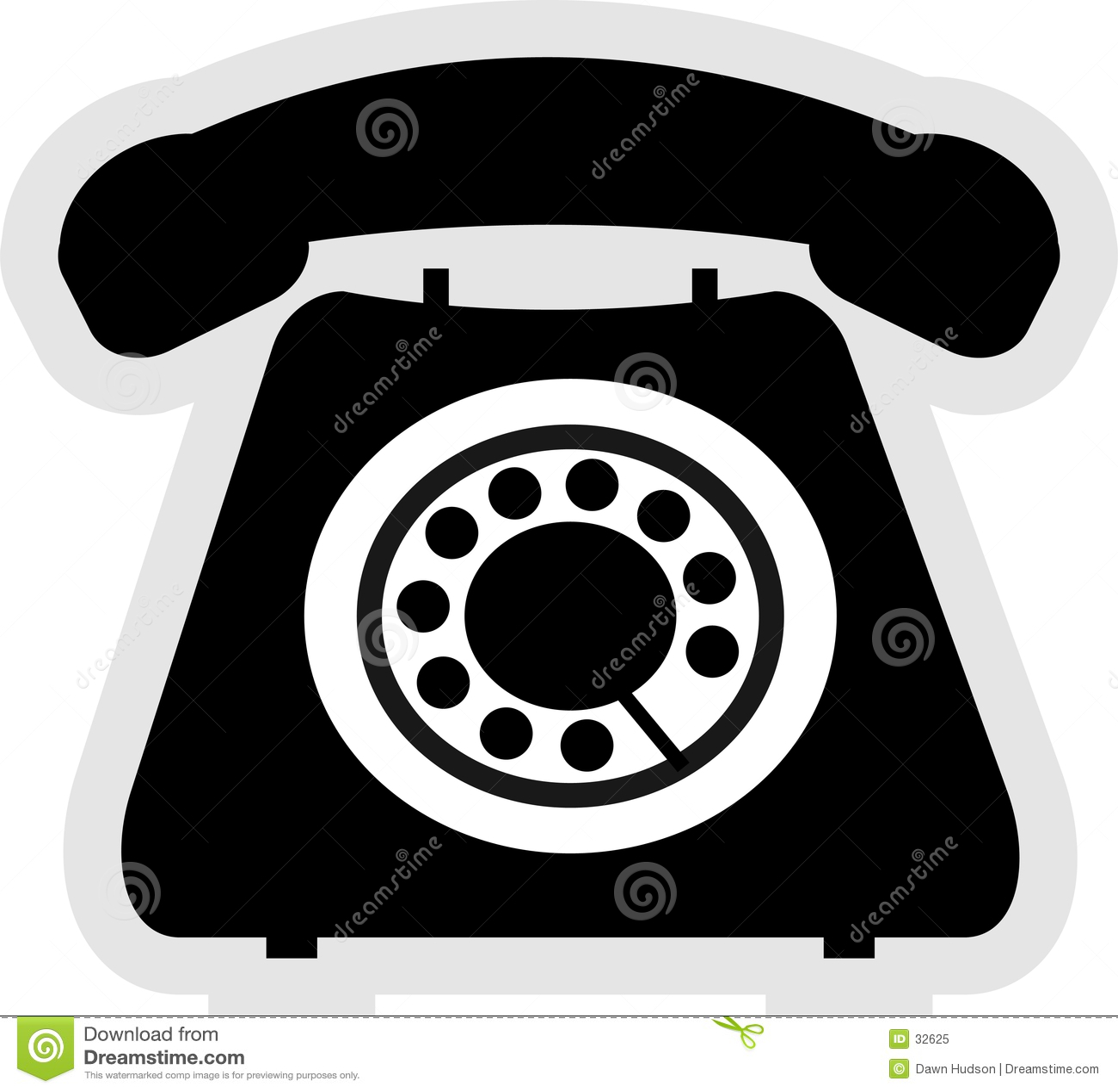Download Icono del teléfono ilustración del vector. Ilustración de dial - 32625