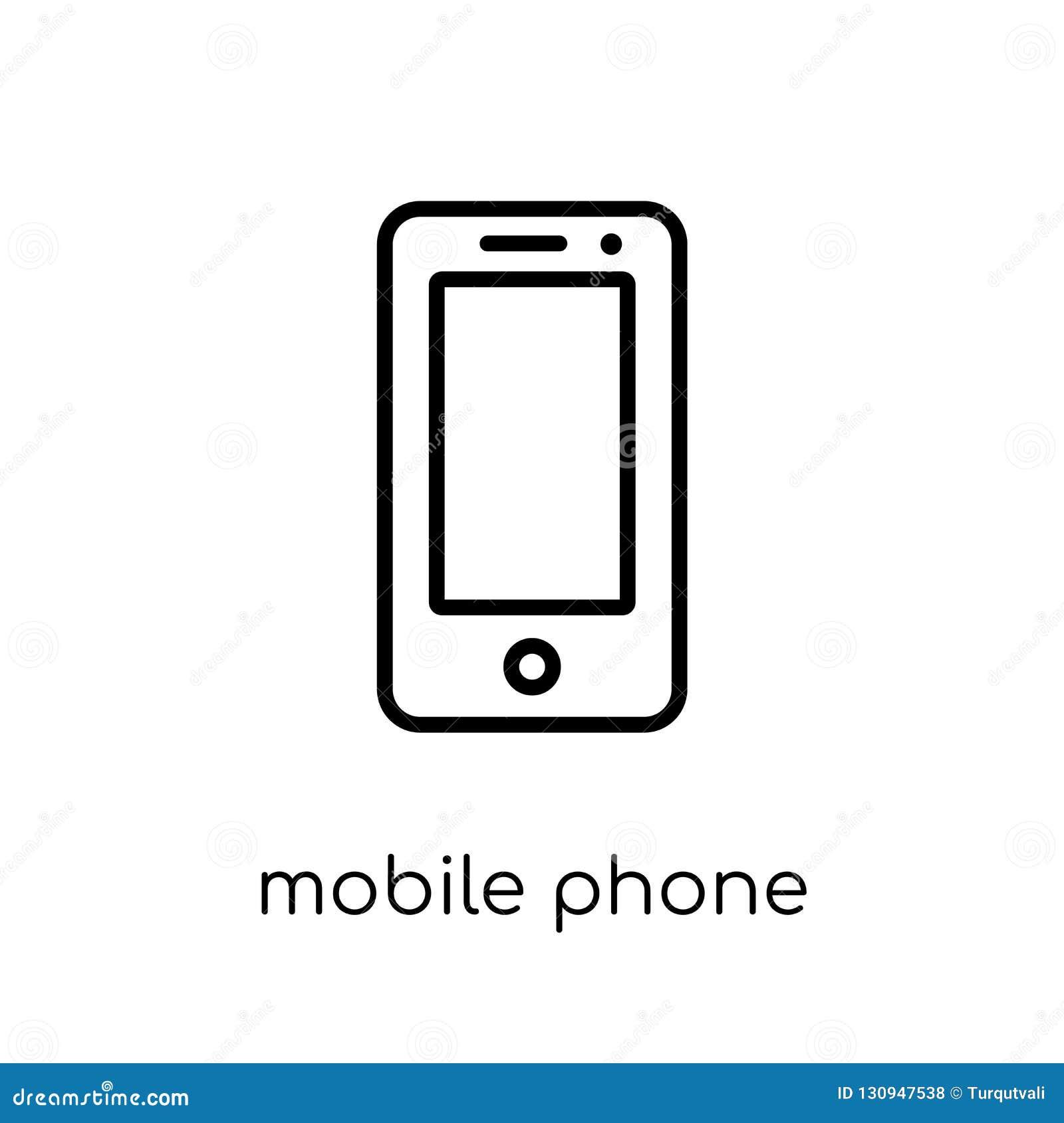 Icono del teléfono móvil de la colección de los dispositivos electrónicos