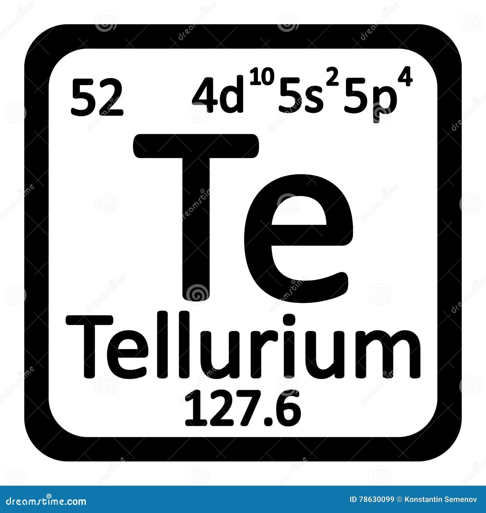 Icono del telurio del elemento de tabla peridica stock de download comp urtaz Gallery