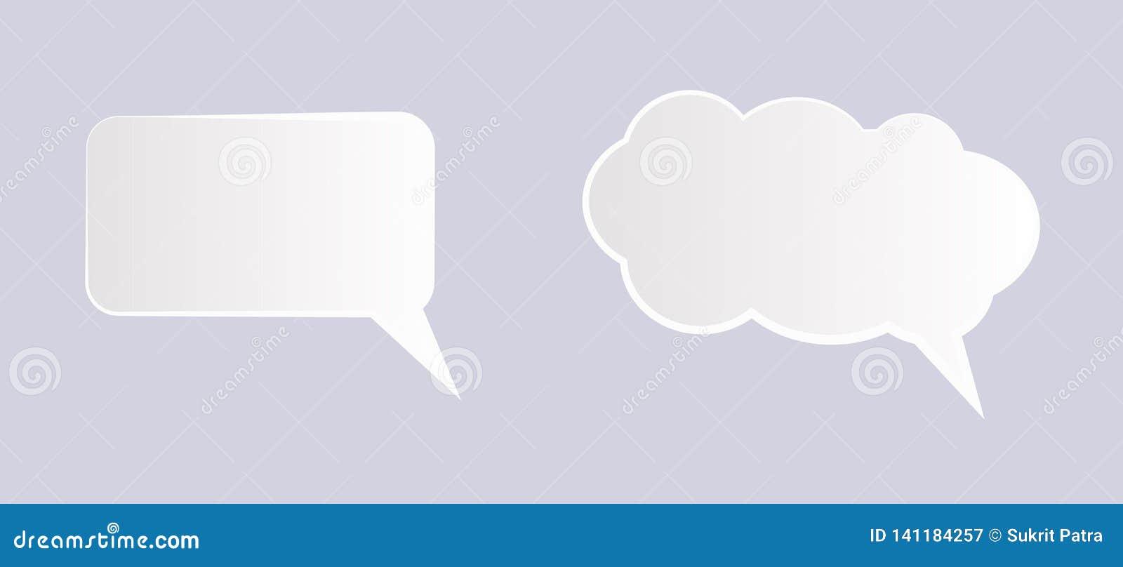 Icono del texto de la burbuja del discurso, ejemplo - vector