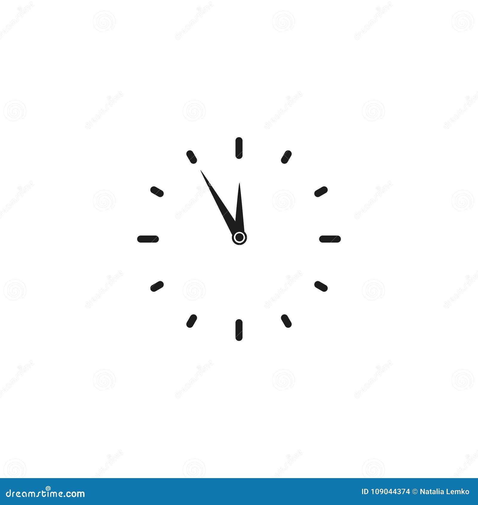 Tiempo Del De Ilustración Vector Trabajo Icono Reloj WHE9D2I