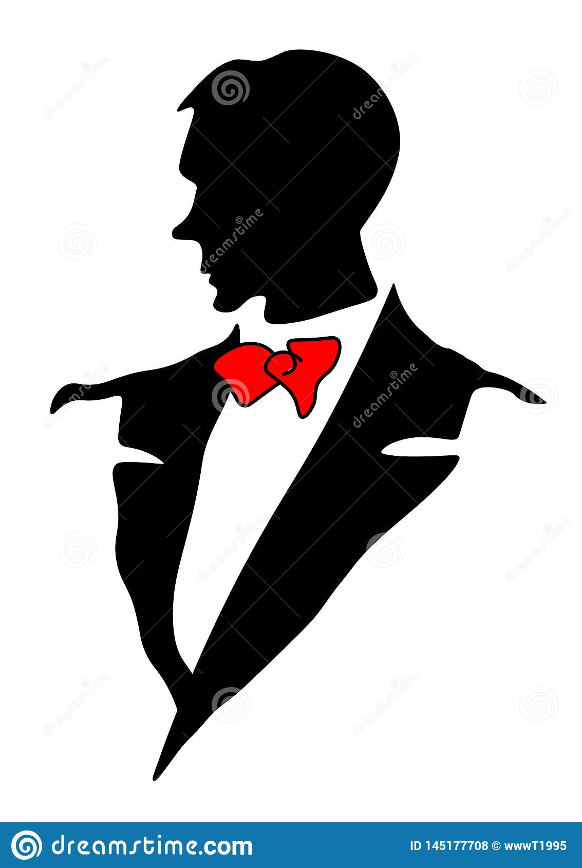 Icono del traje de los hombres de la web Chaqueta con un lazo La ropa formal de los hombres El traje del hombre para el maniquí S