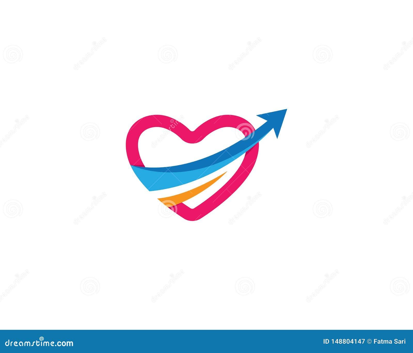 Icono del vector del amor