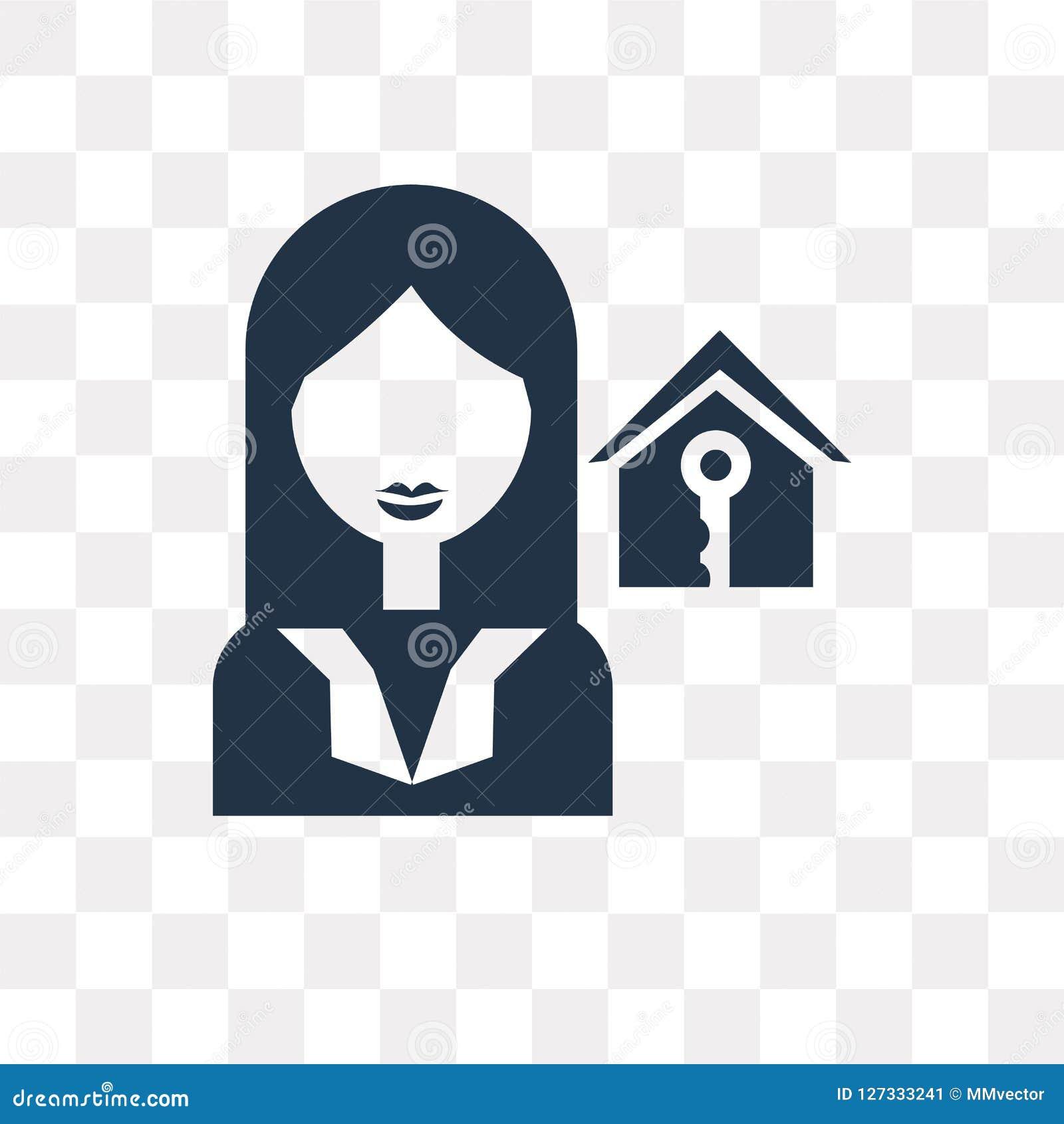 Icono del vector del arrendatario aislado en el fondo transparente, arrendatario t