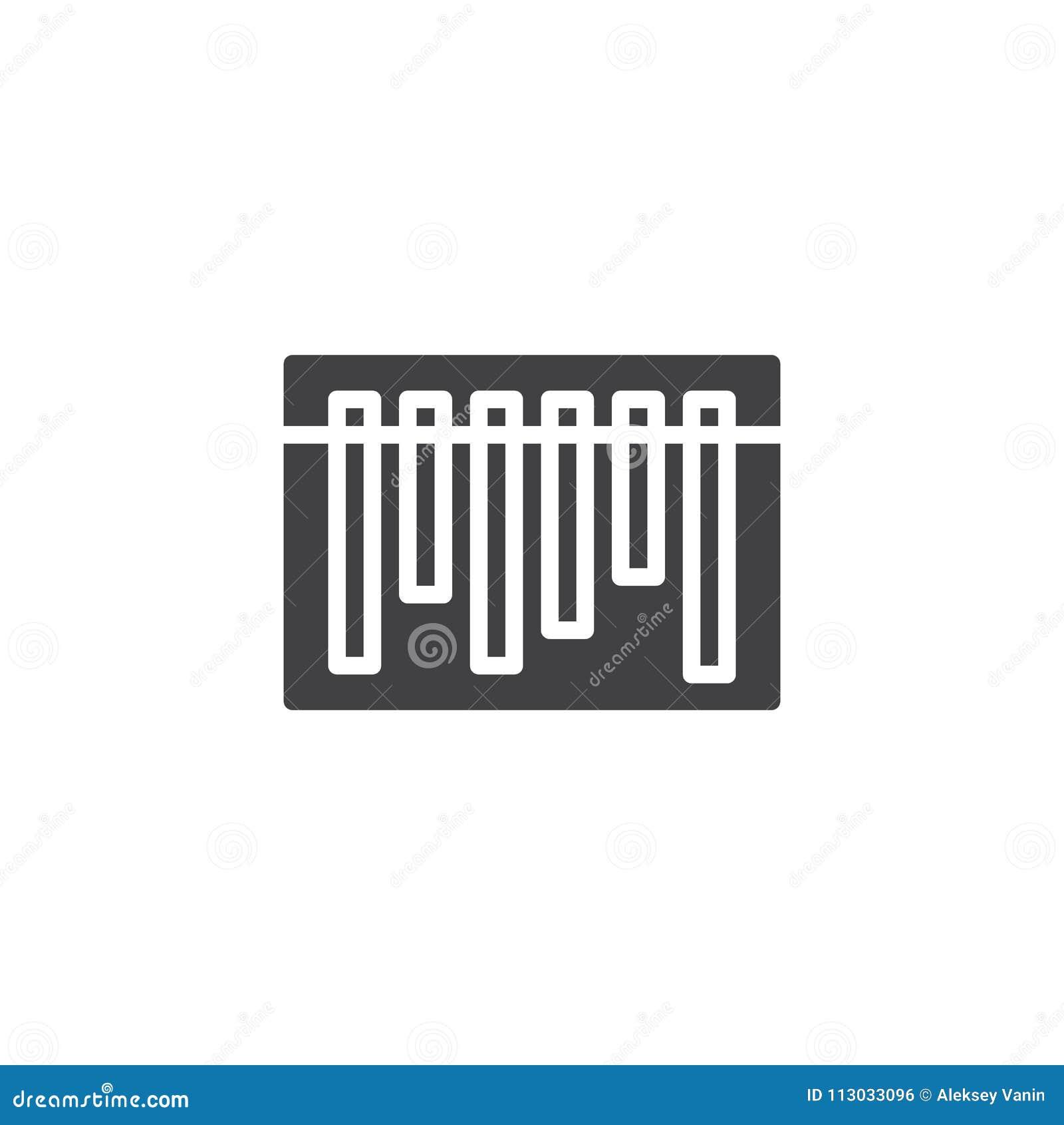 Icono del vector del código de barras