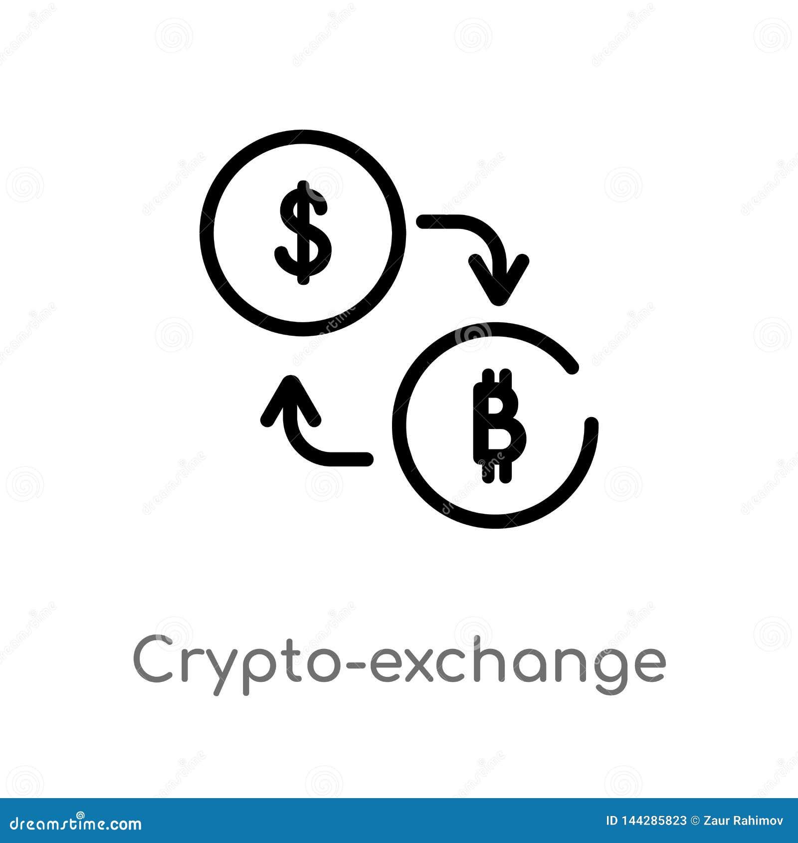 Icono del vector del crypto-intercambio del esquema r Vector Editable
