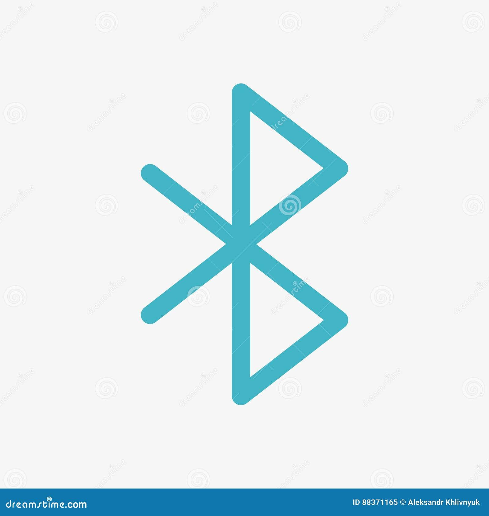 Icono del vector de Bluetooth