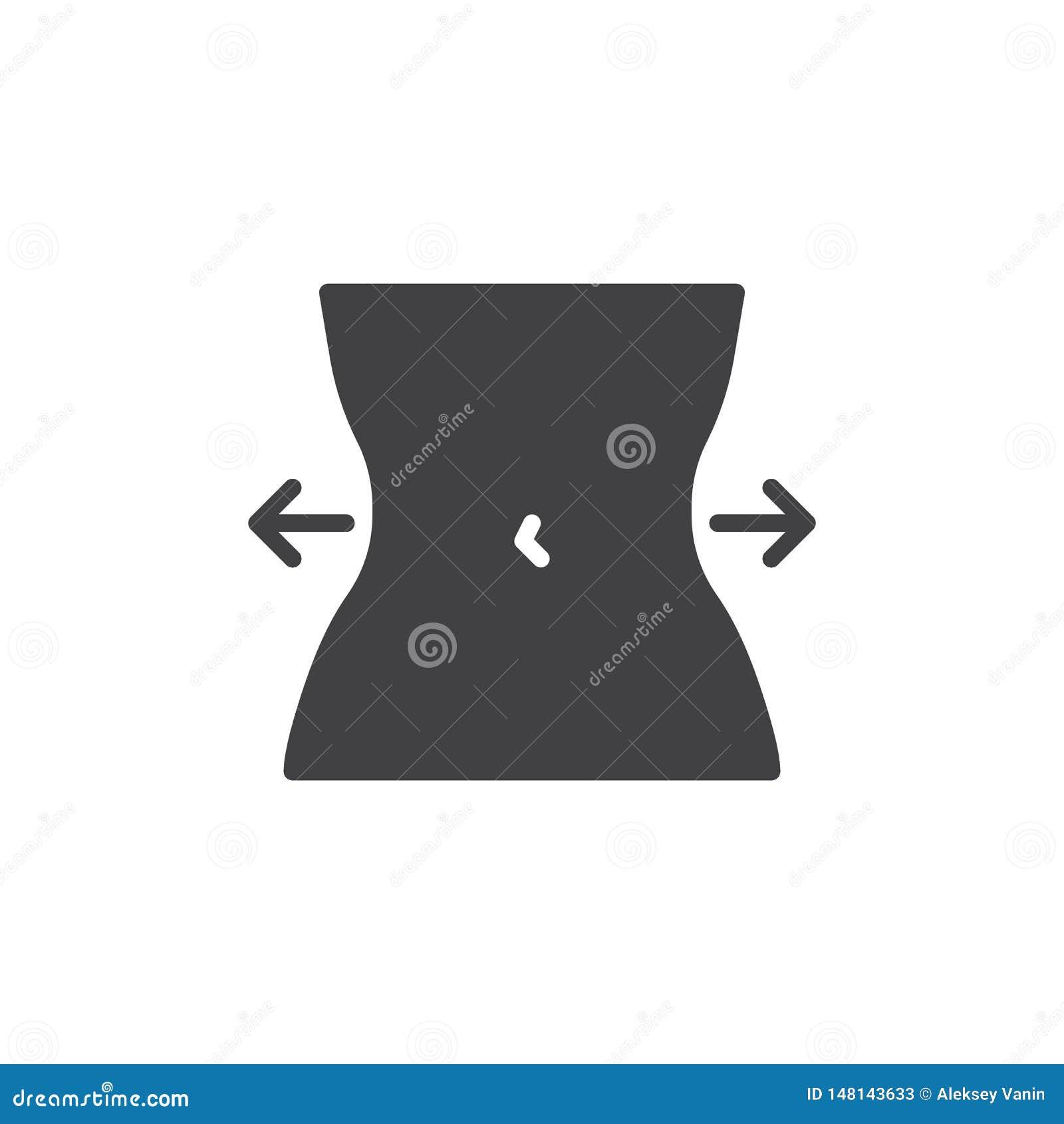 Icono del vector de control de la dieta