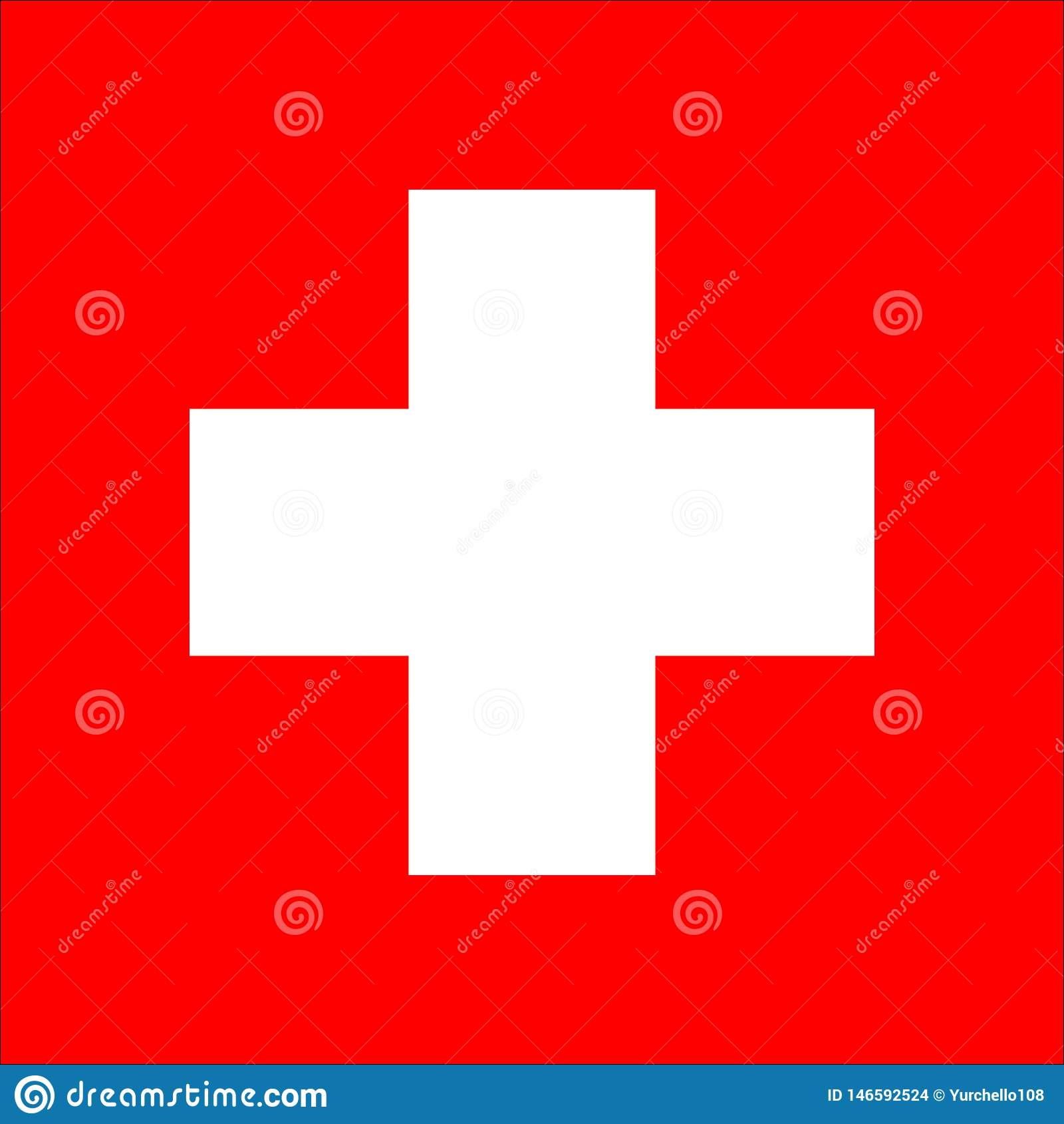 Icono del vector de la bandera de Suiza