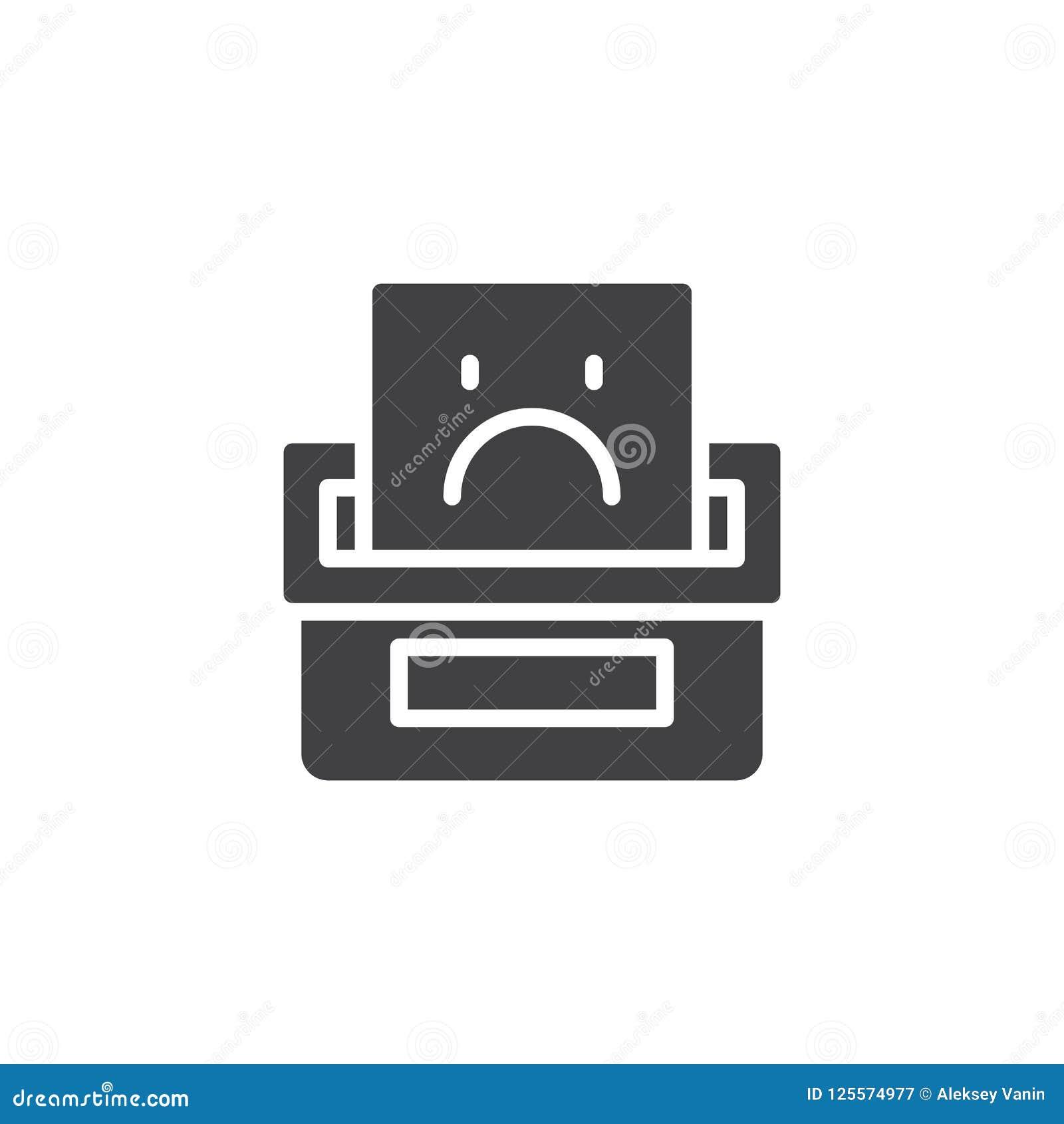 Icono del vector de la caja de denuncia