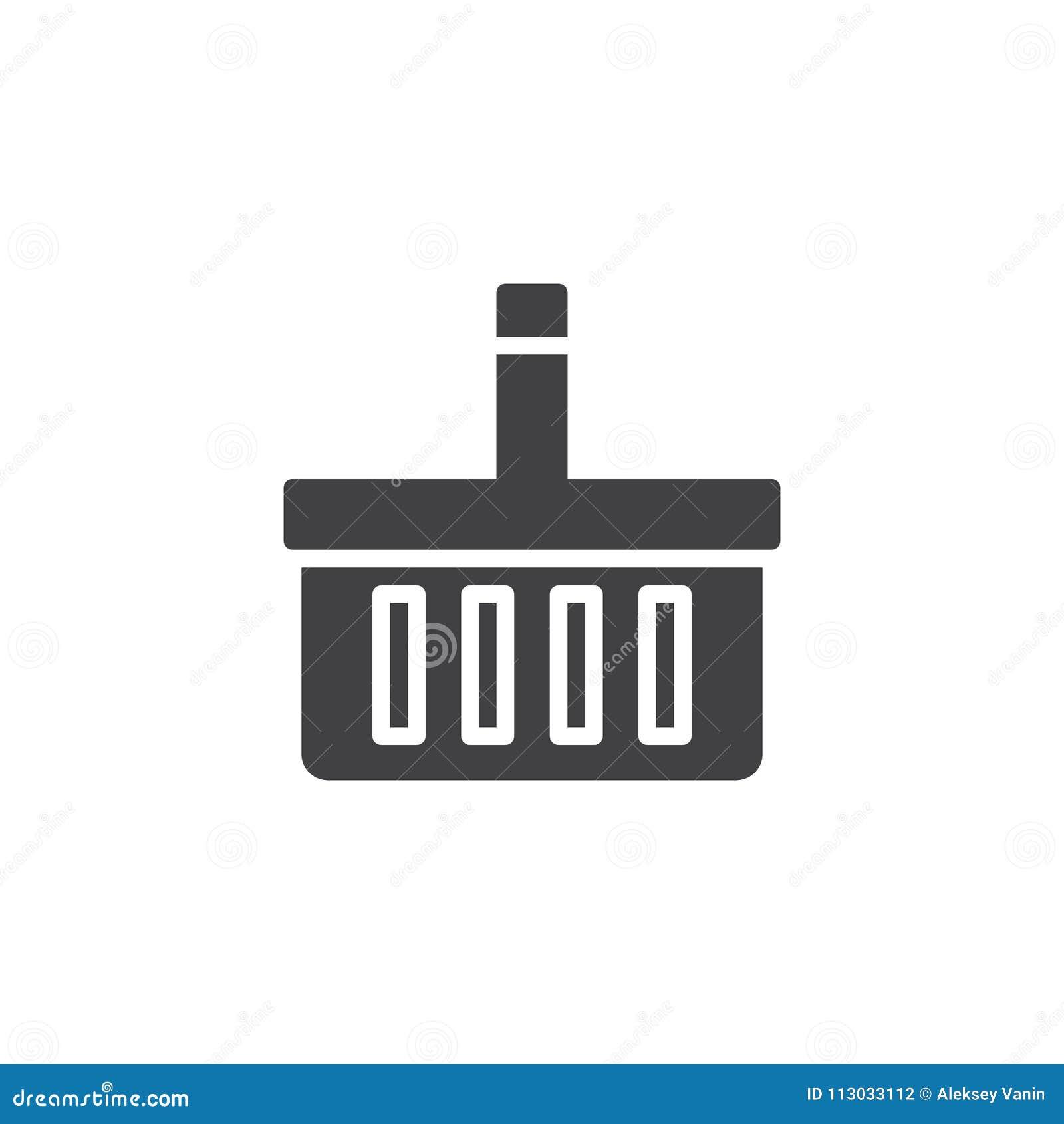 Icono del vector de la cesta de compras