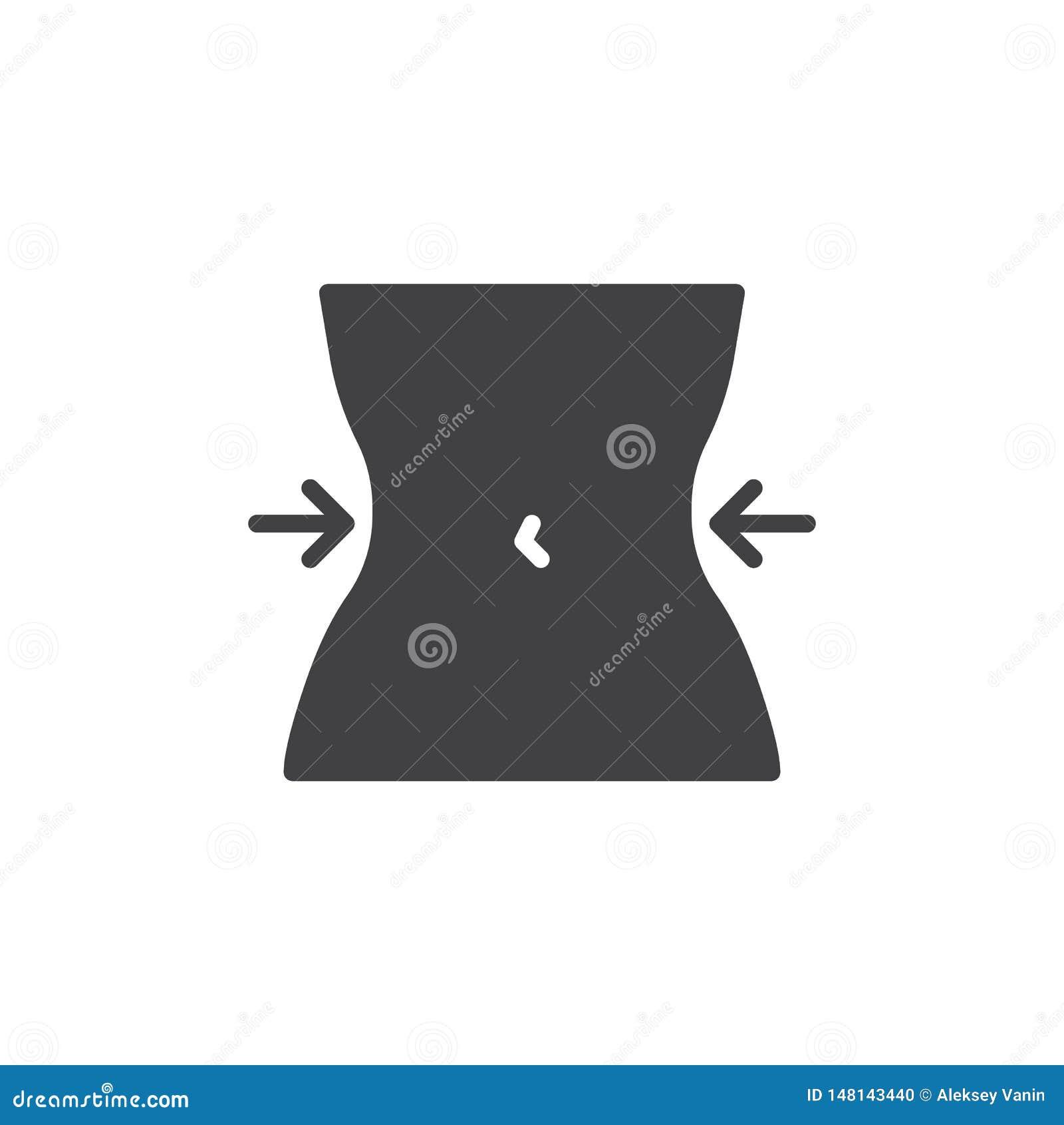 Icono del vector de la cintura de las mujeres
