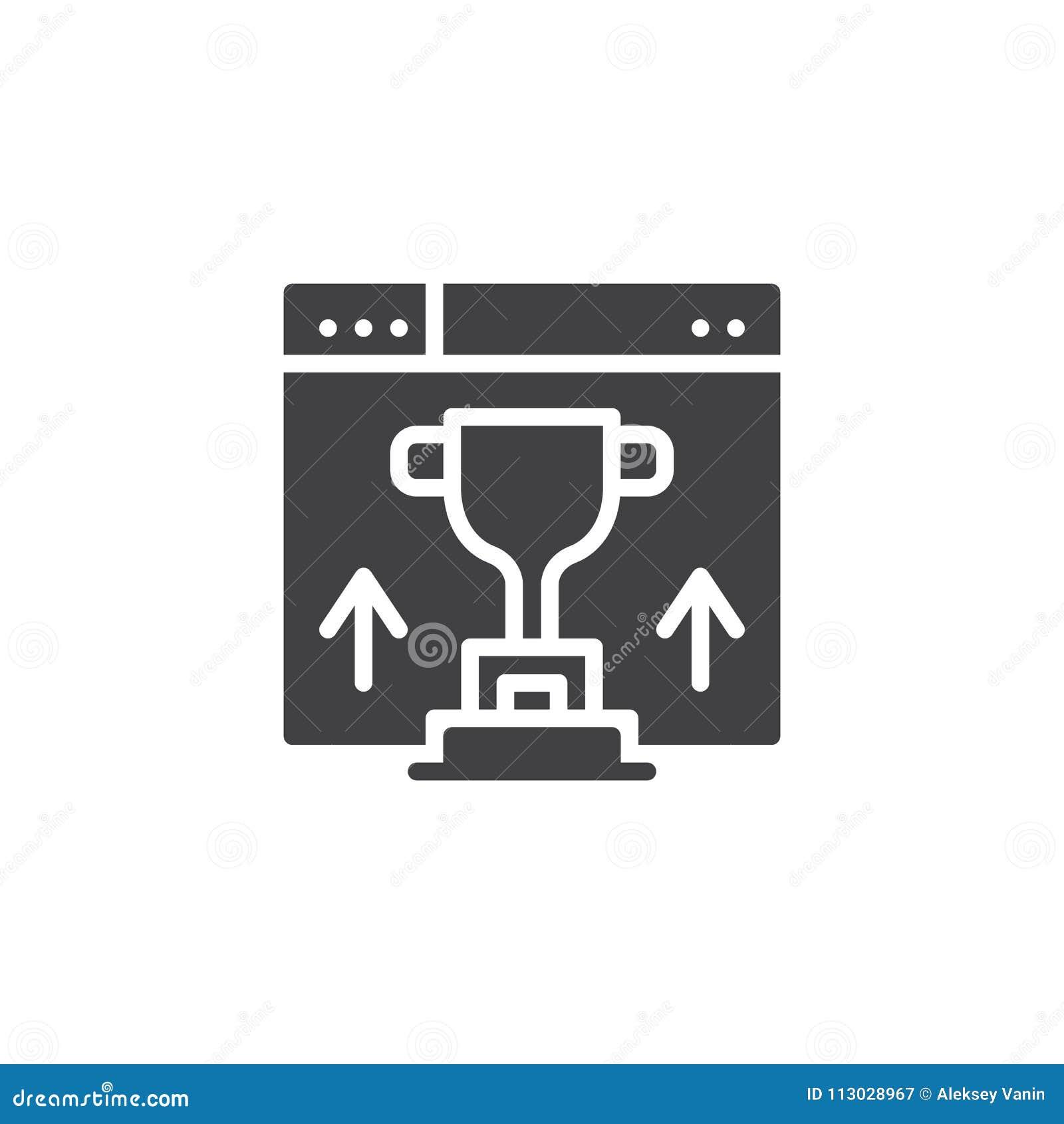 Icono del vector de la graduación del sitio web