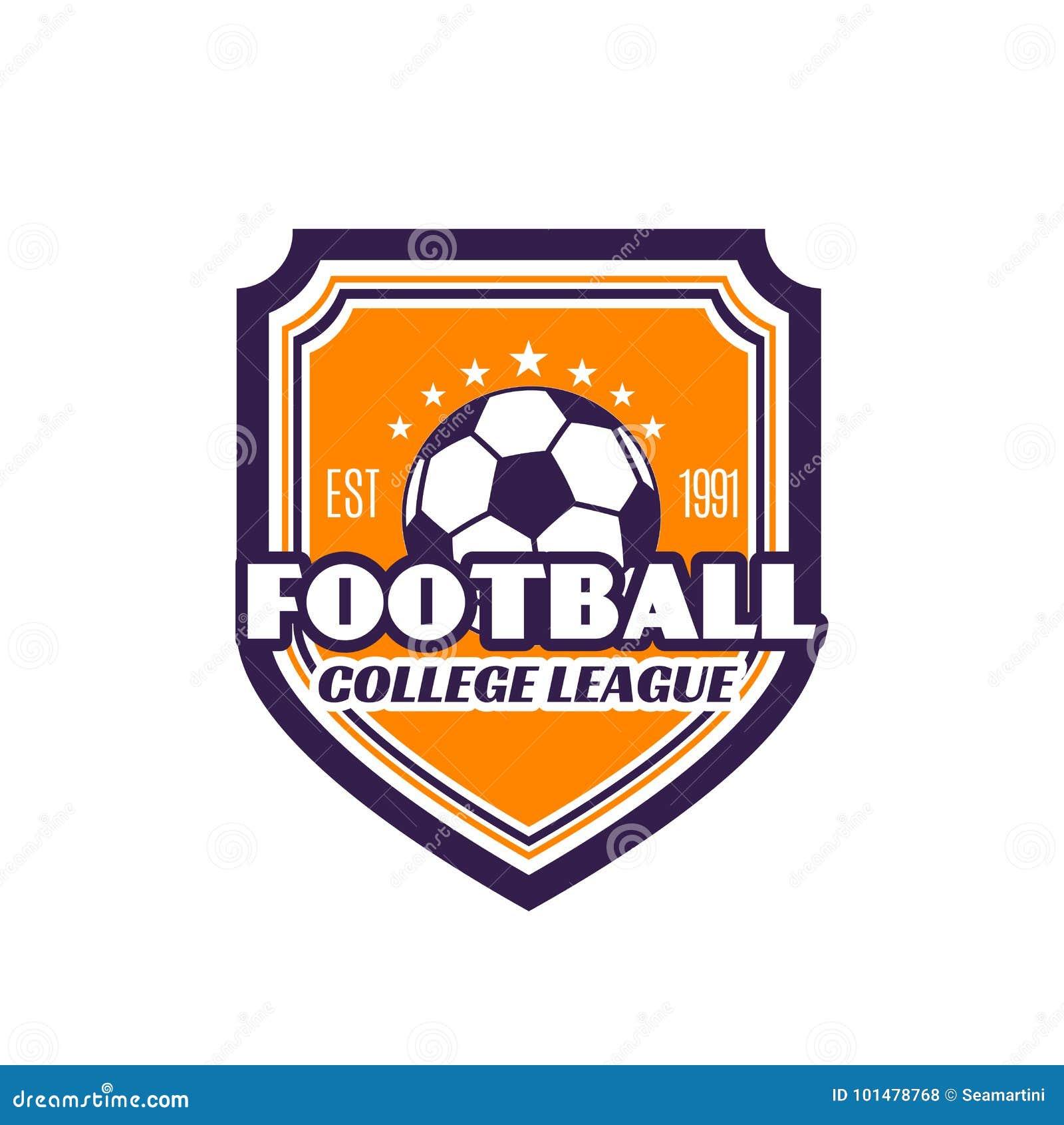 Icono Del Vector De La Insignia Del Fútbol De La Liga De La