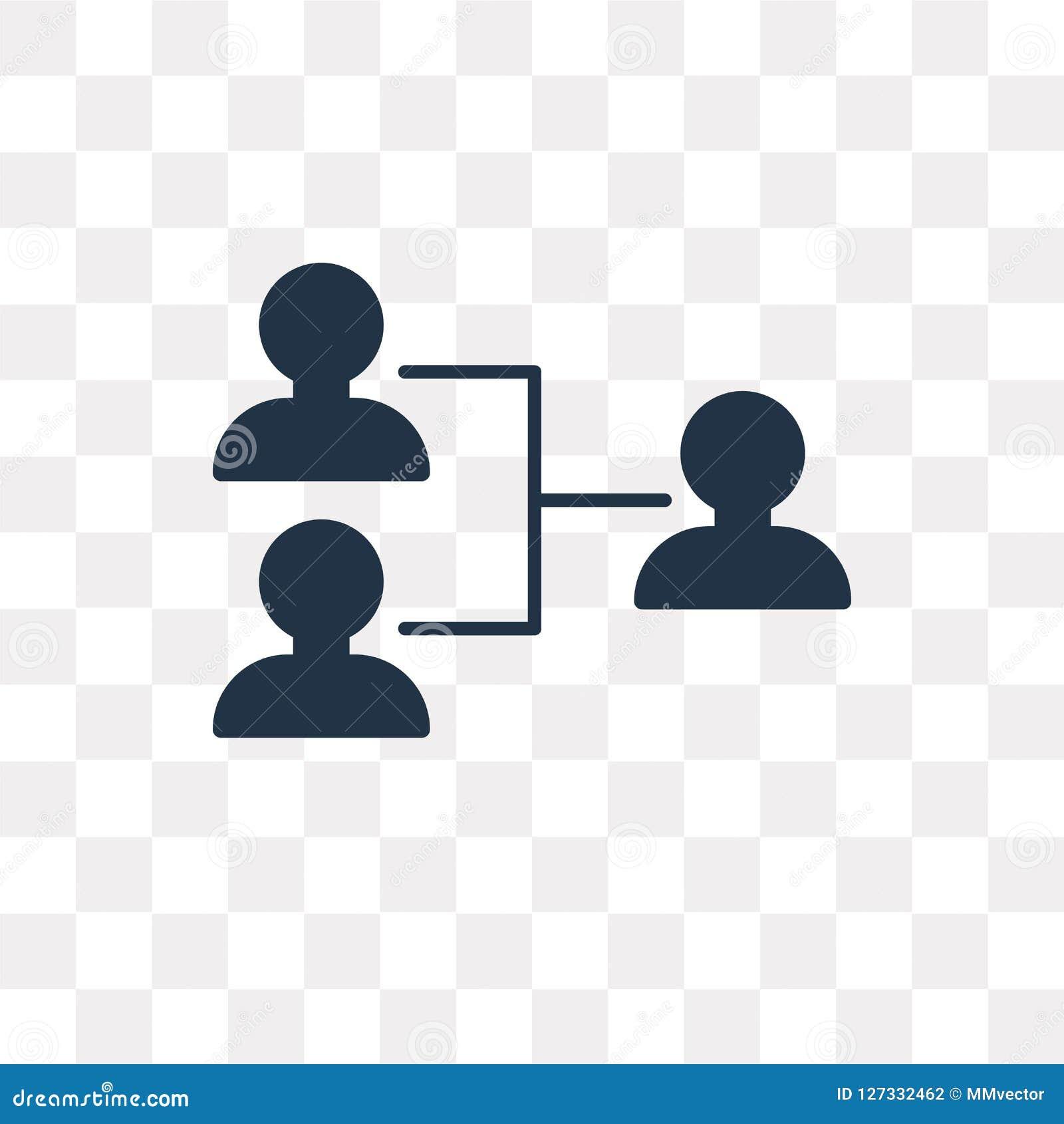 Icono del vector de la organización aislado en el fondo transparente, Org