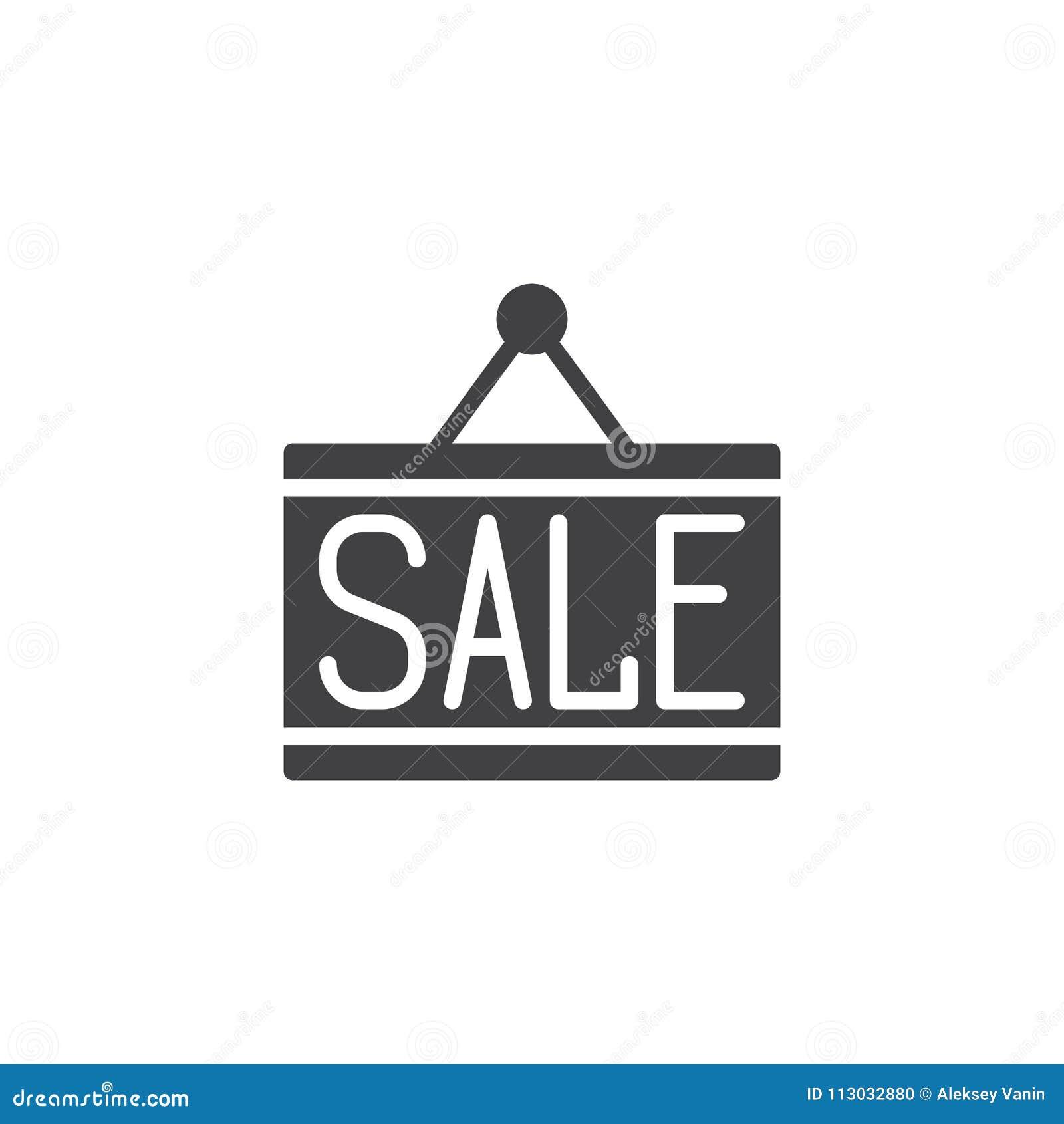 Icono del vector de la placa de la puerta de la venta