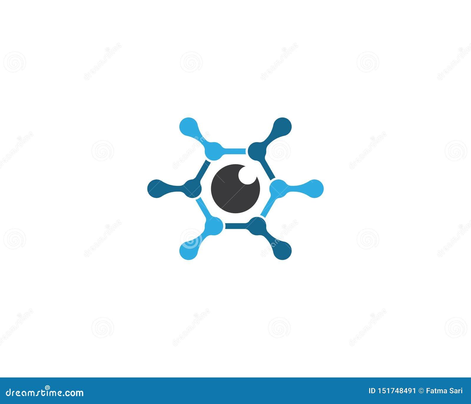 Icono del vector de la plantilla del logotipo del ojo