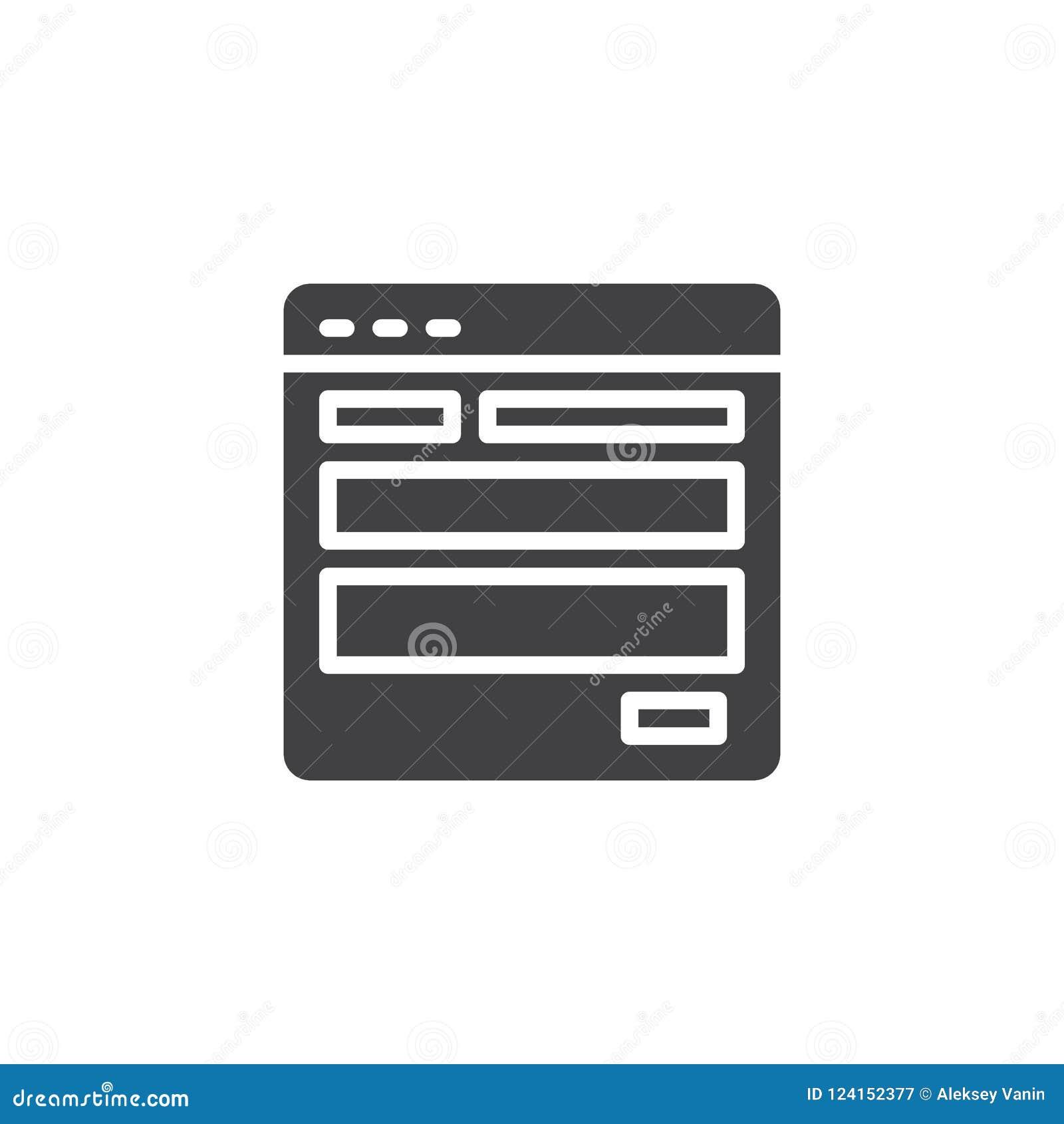 Icono del vector de la plantilla del sitio web