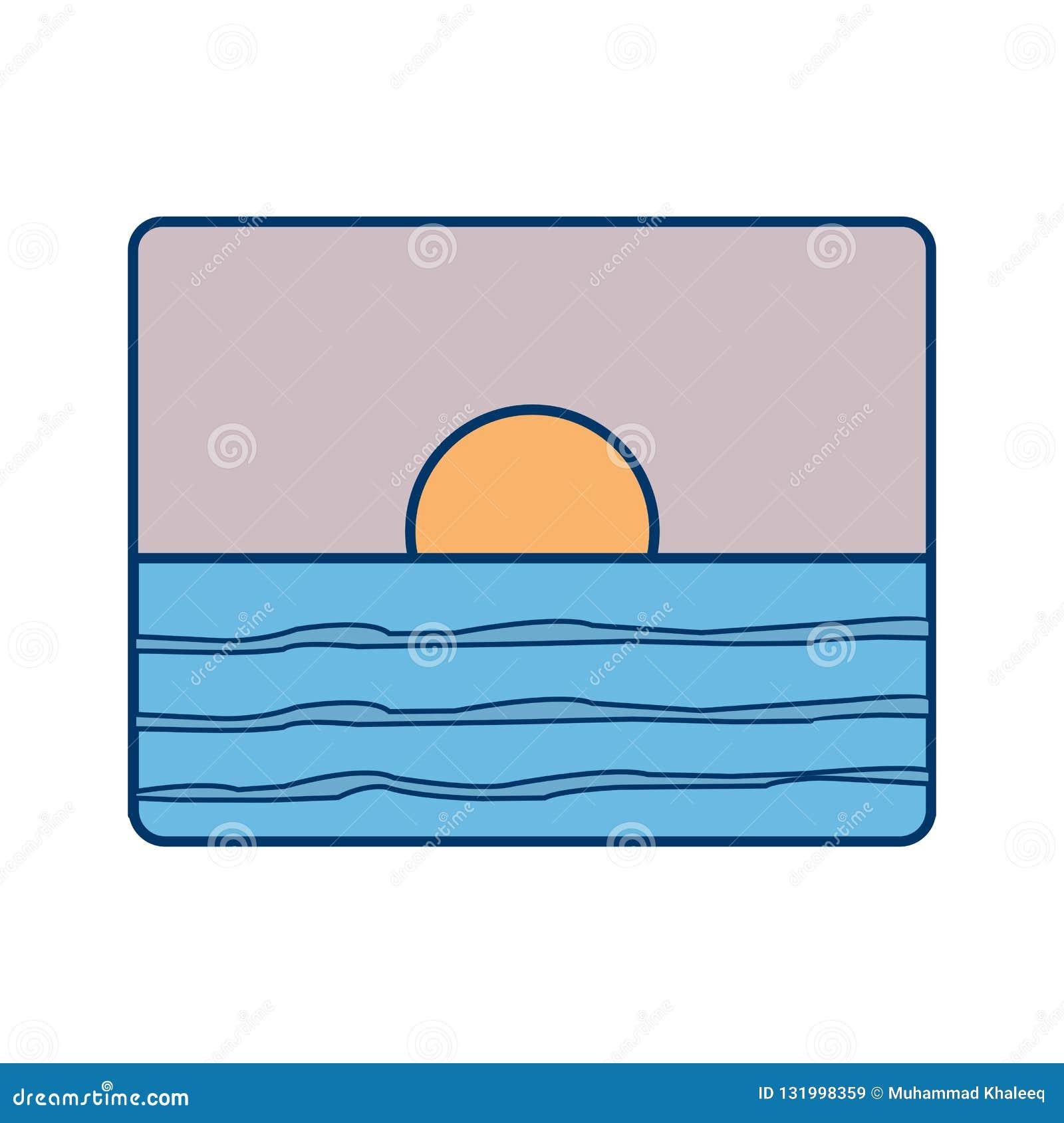 Icono del vector de la puesta del sol
