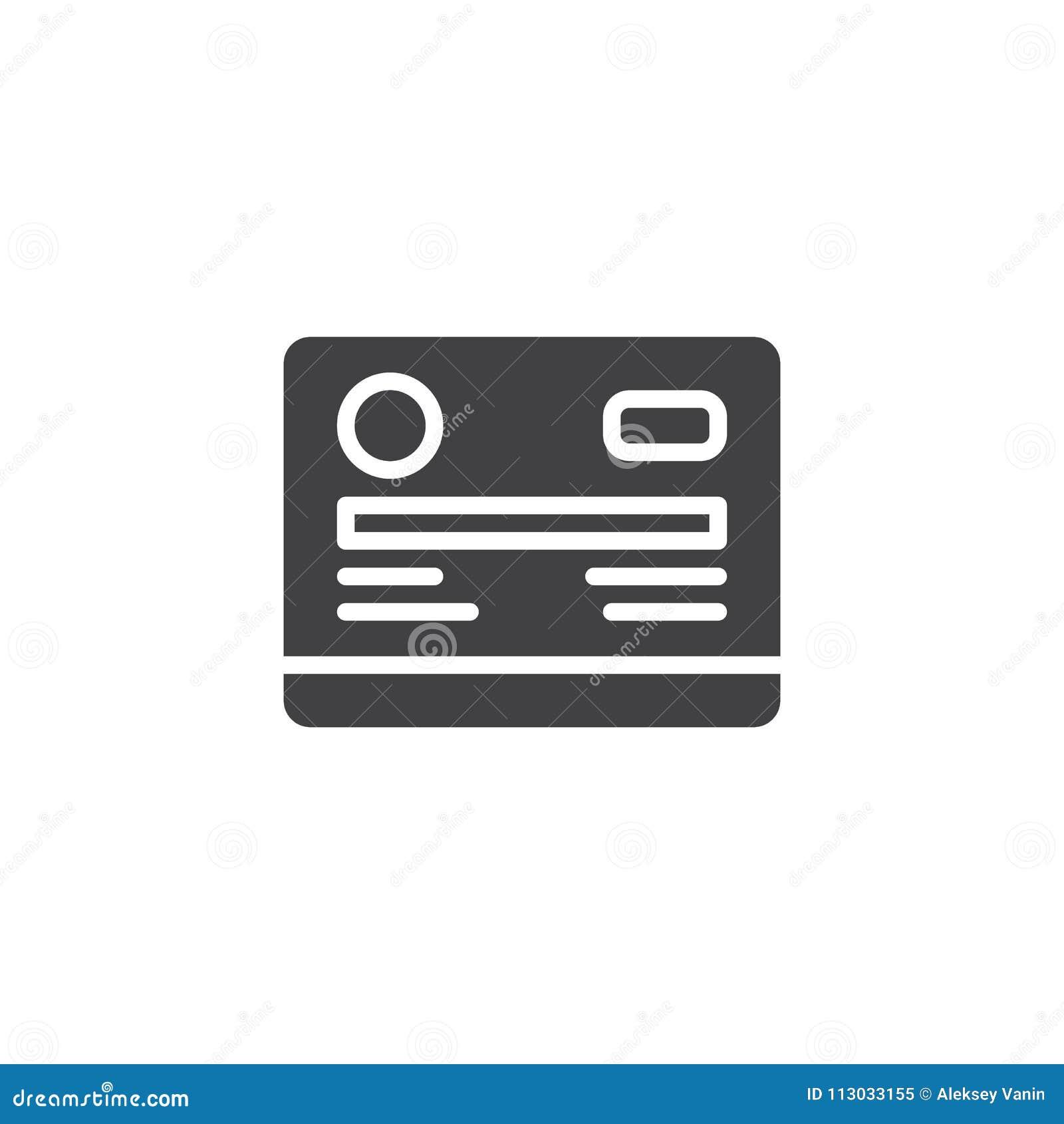 Icono del vector de la tarjeta de crédito