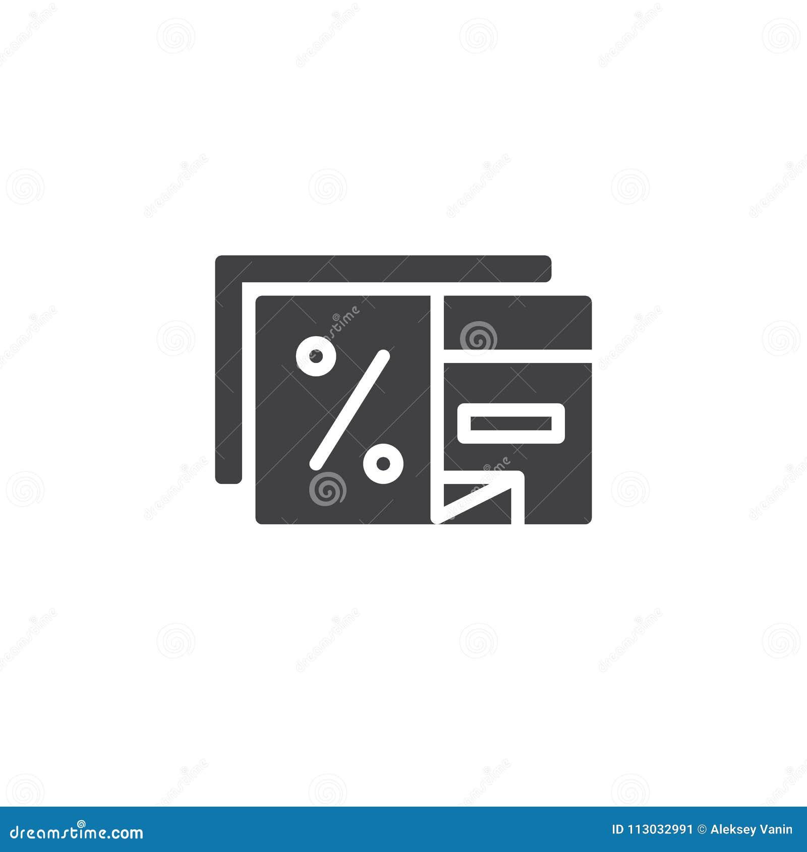 Icono del vector de la tarjeta del descuento