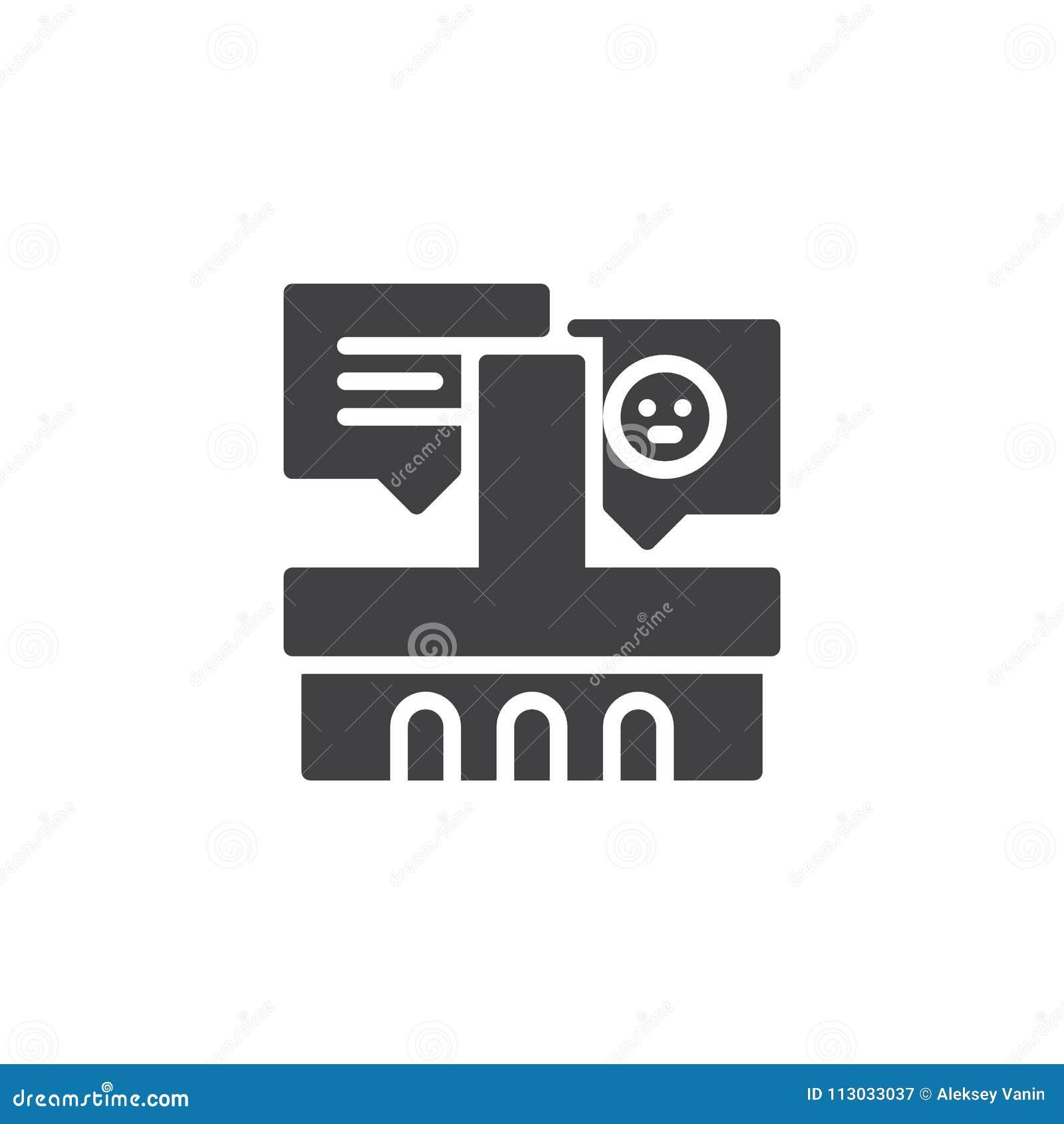 Icono del vector de los comentarios de clientes