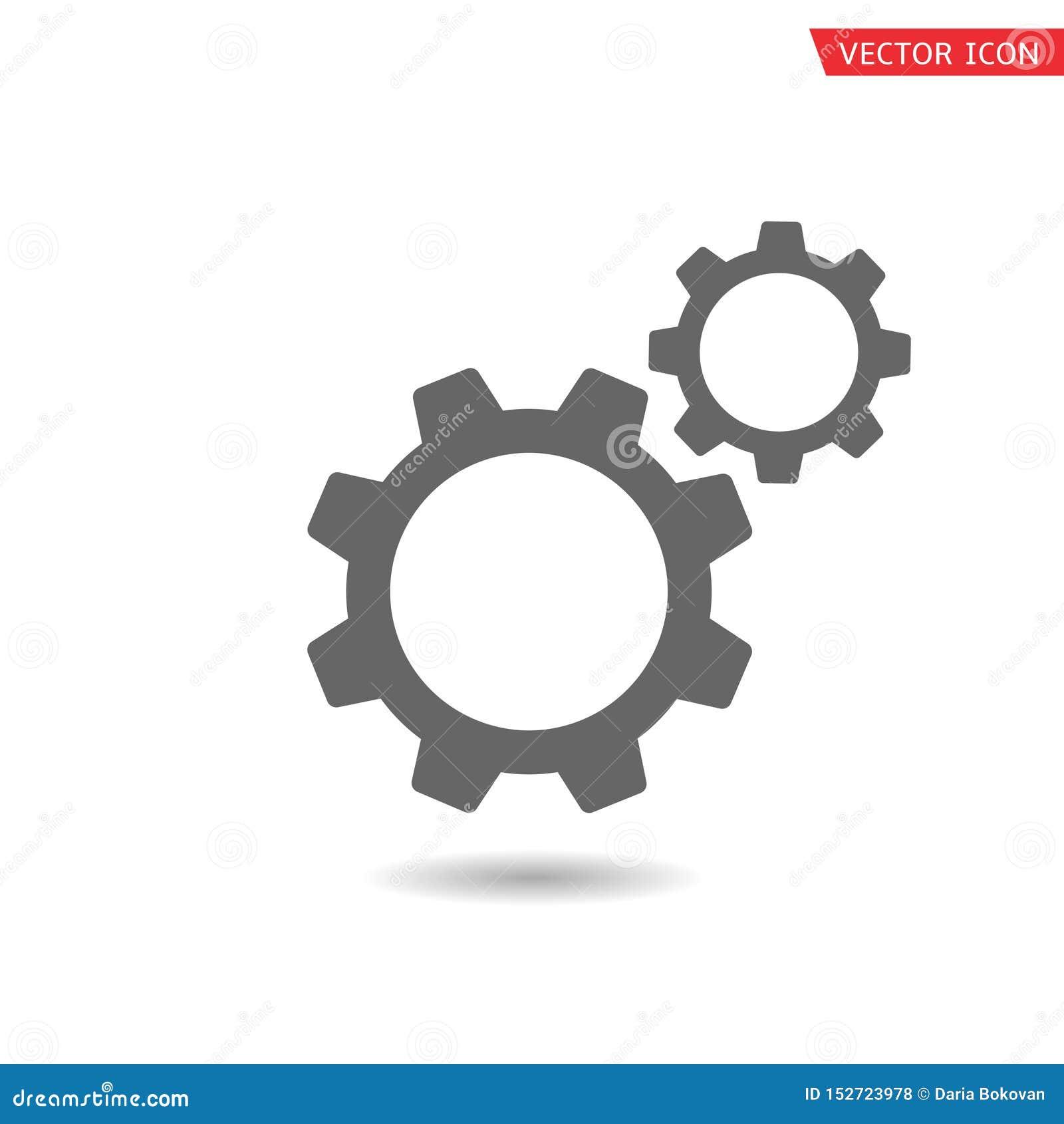 Icono del vector de los engranajes