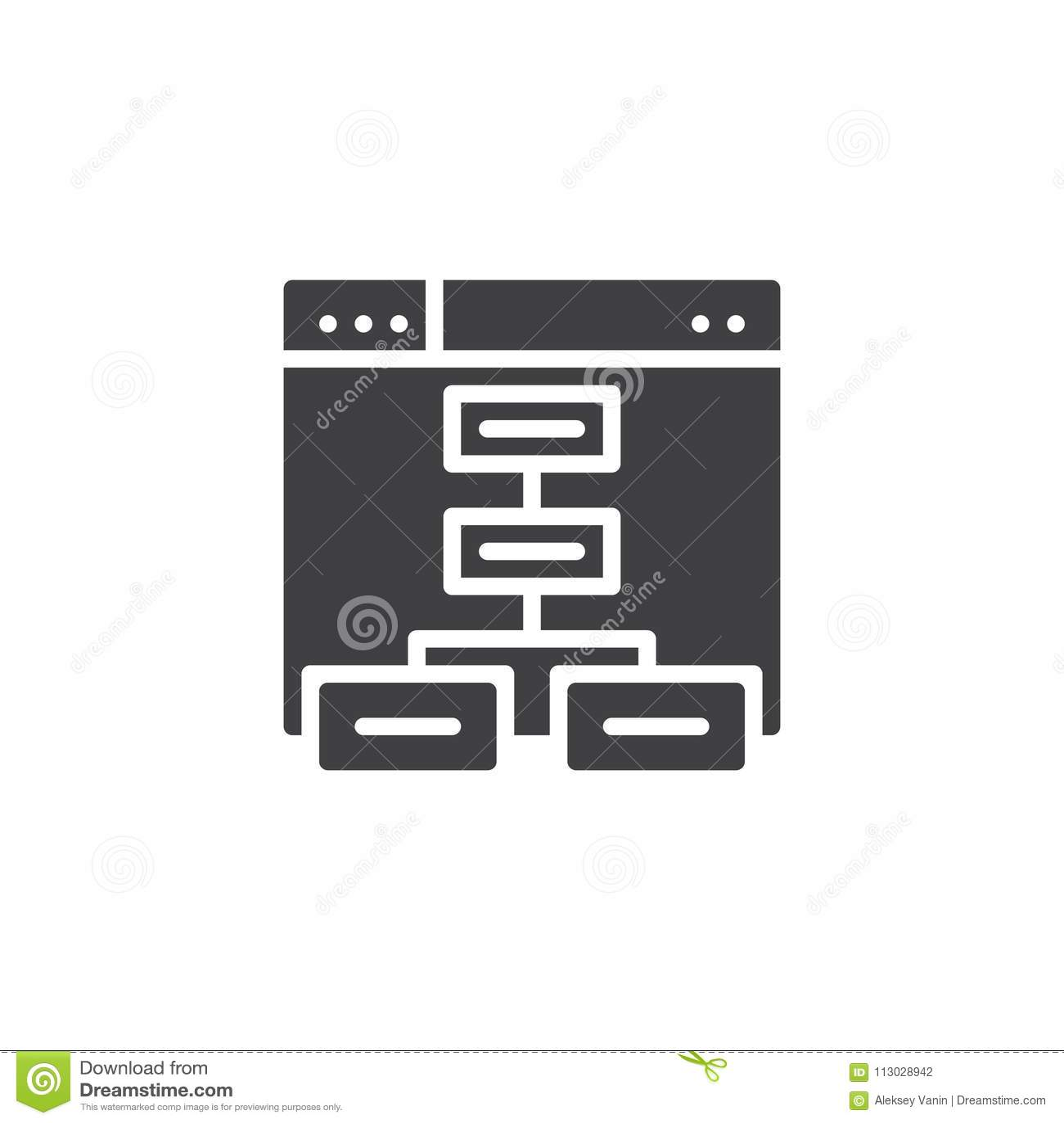 Icono del vector de Sitemap