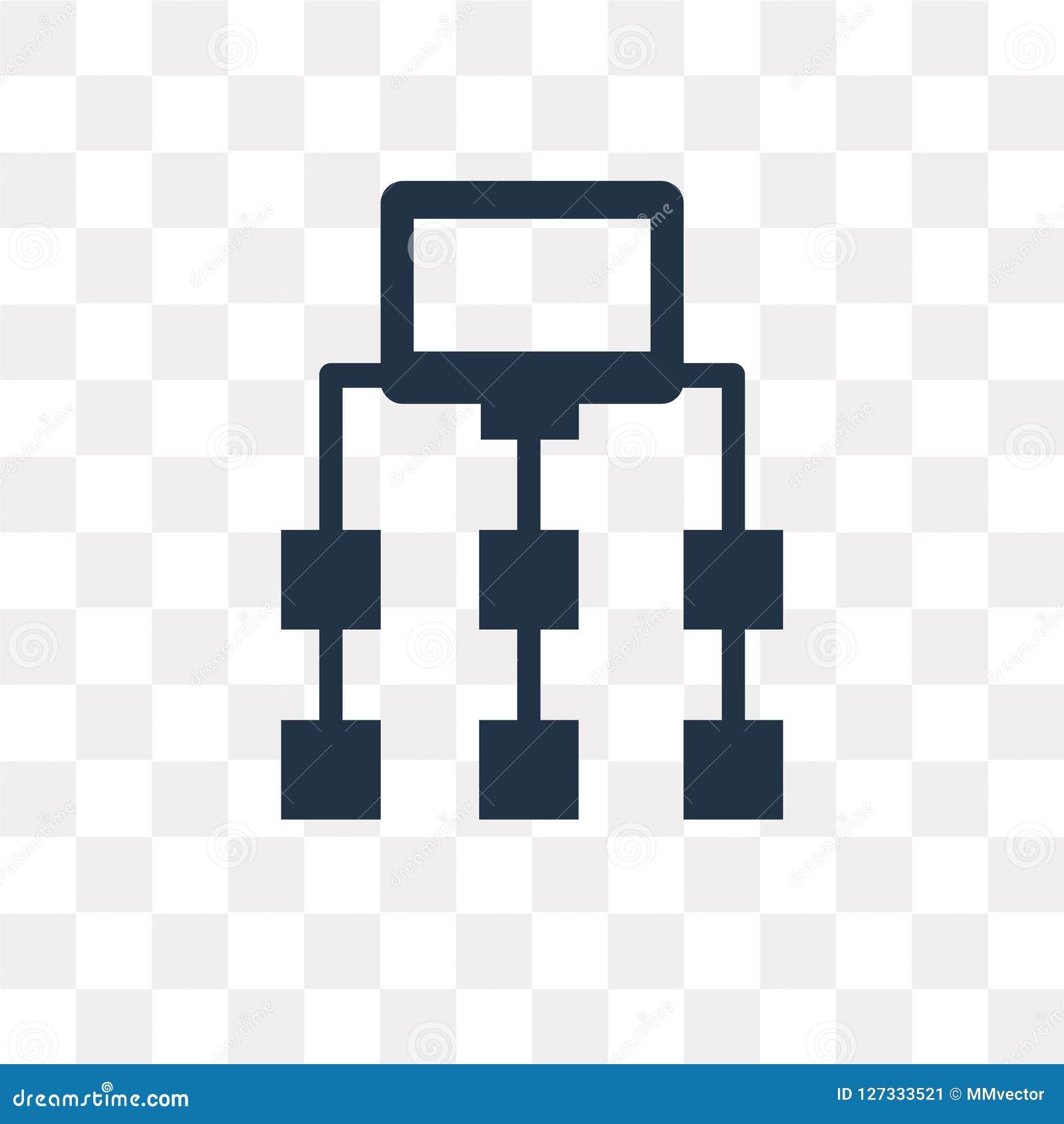 Icono del vector de Sitemap aislado en el fondo transparente, Sitemap