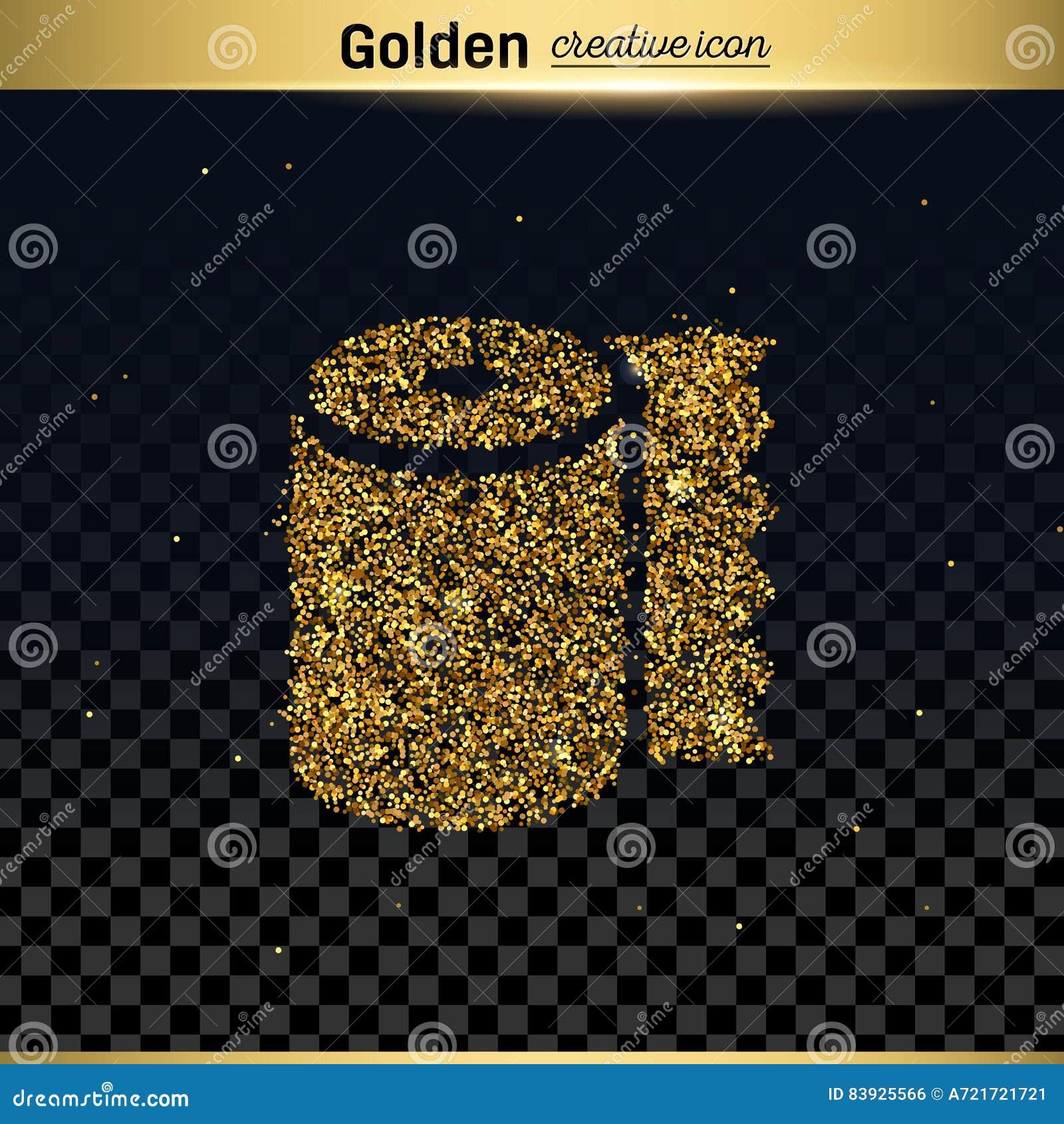 Icono del vector del brillo del oro