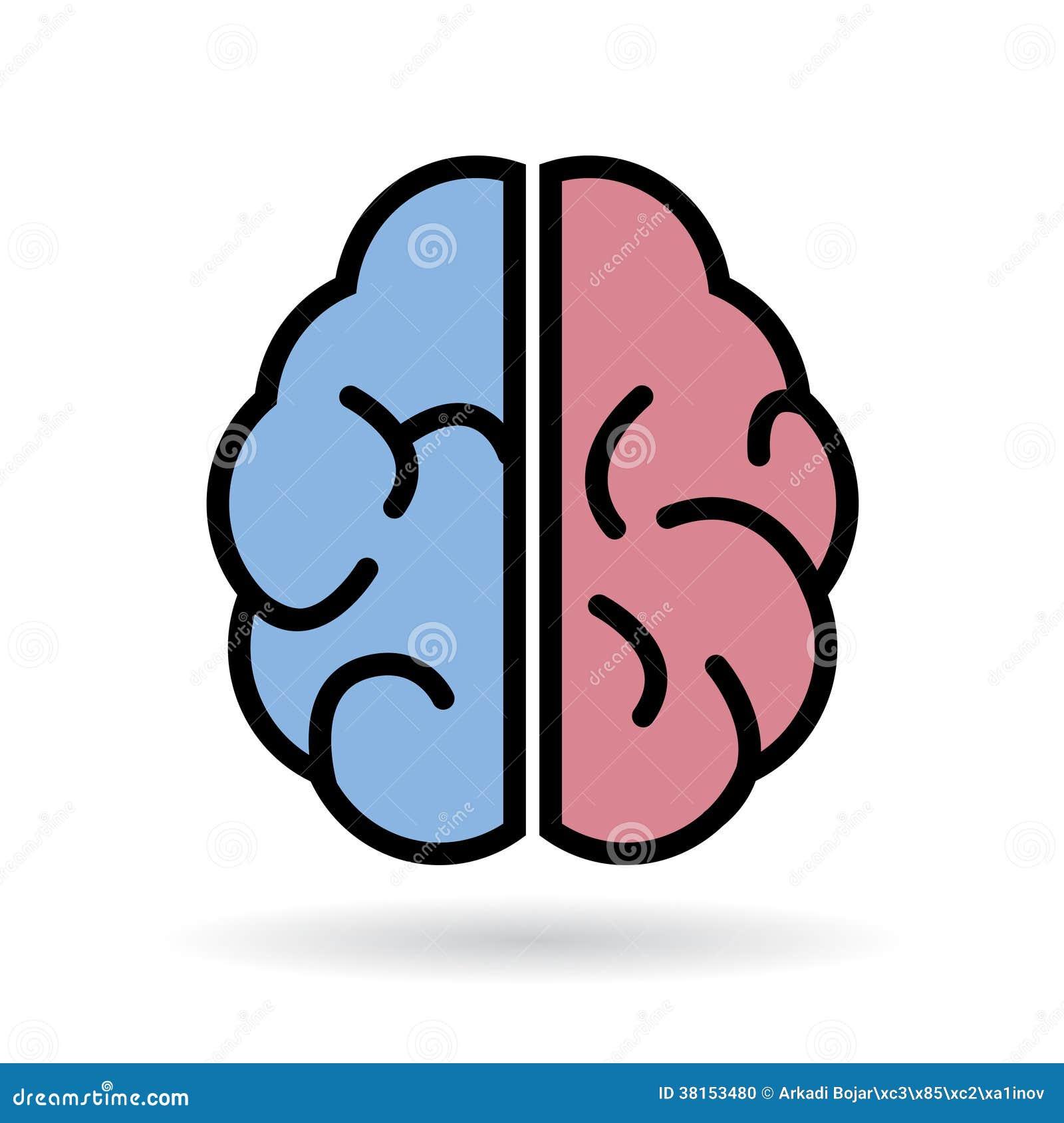 Icono del vector del cerebro foto de archivo imagen for Immagini vector