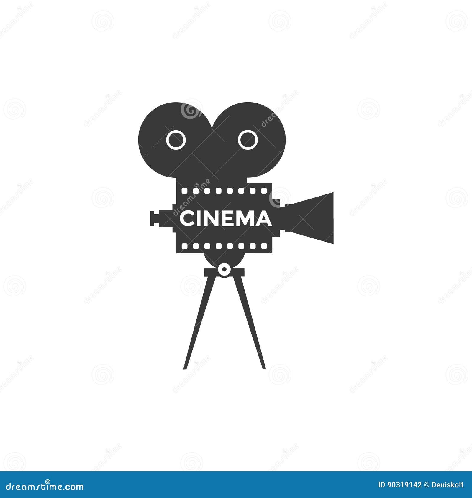 Icono del vector del cine