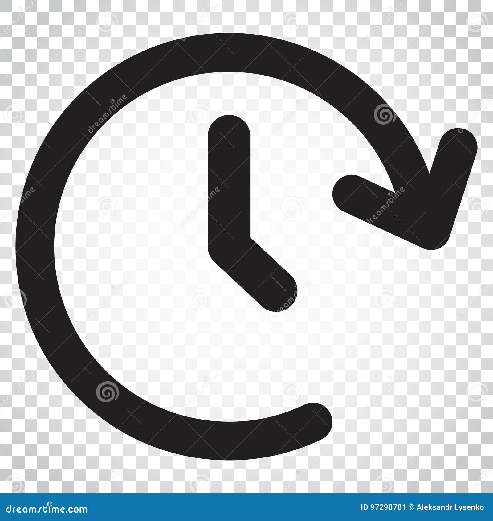 Icono del vector del tiempo de reloj Contador de tiempo 24 horas de ejemplo de la muestra Busine