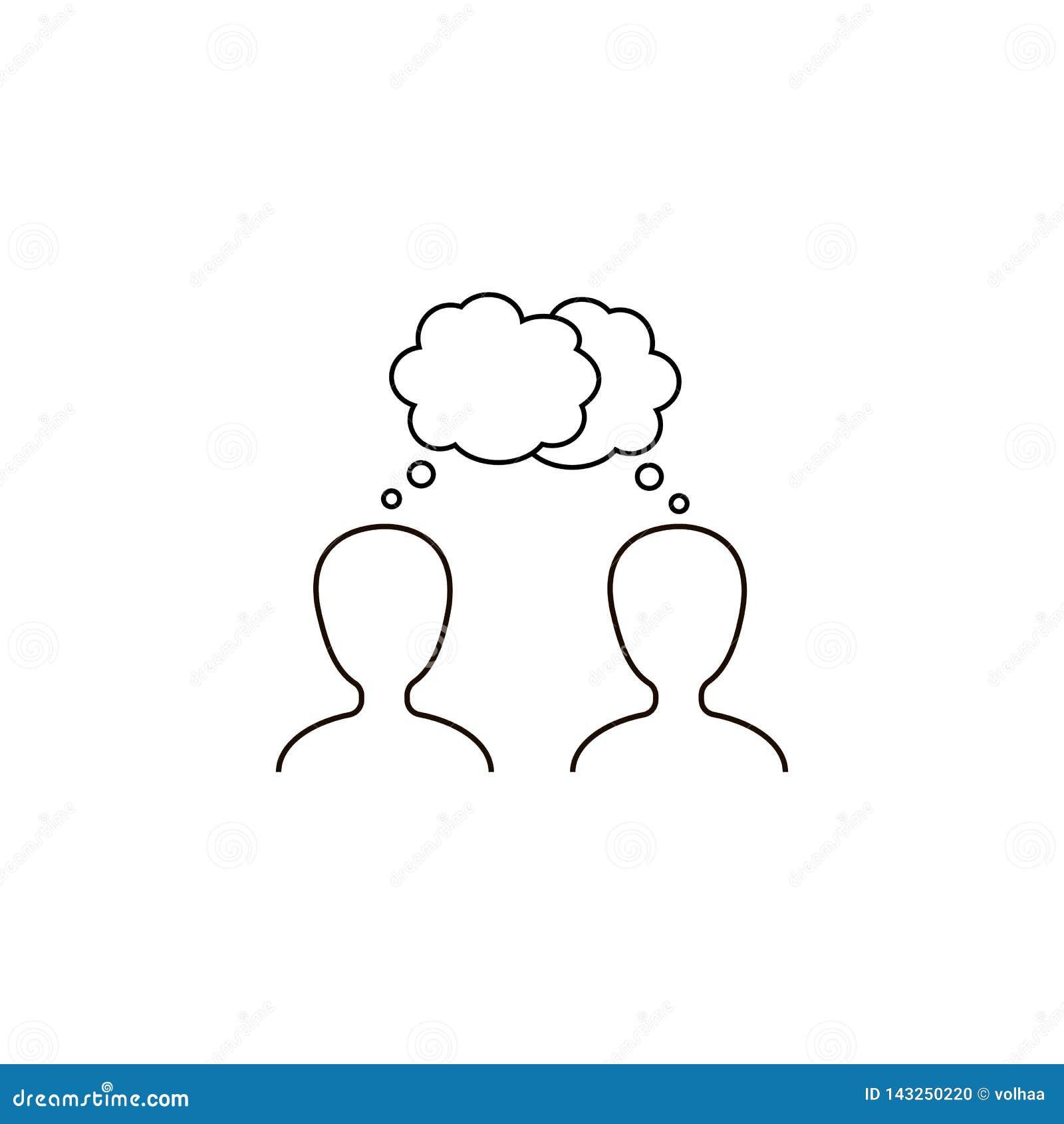 Icono del vector del diálogo, diálogo, conversación
